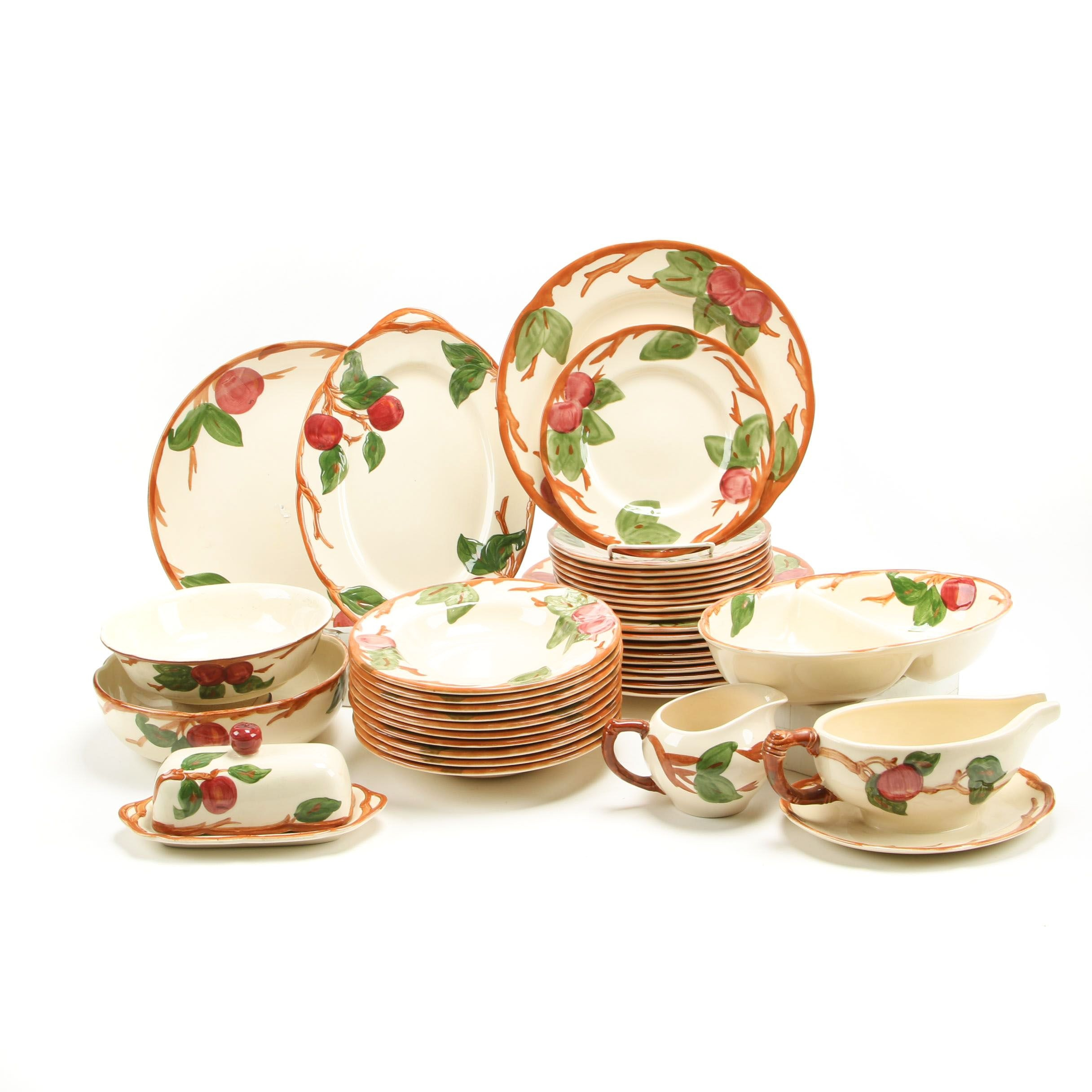 "Franciscan ""Apple"" Earthenware Dinnerware and Serving Pieces, 1958-1995"