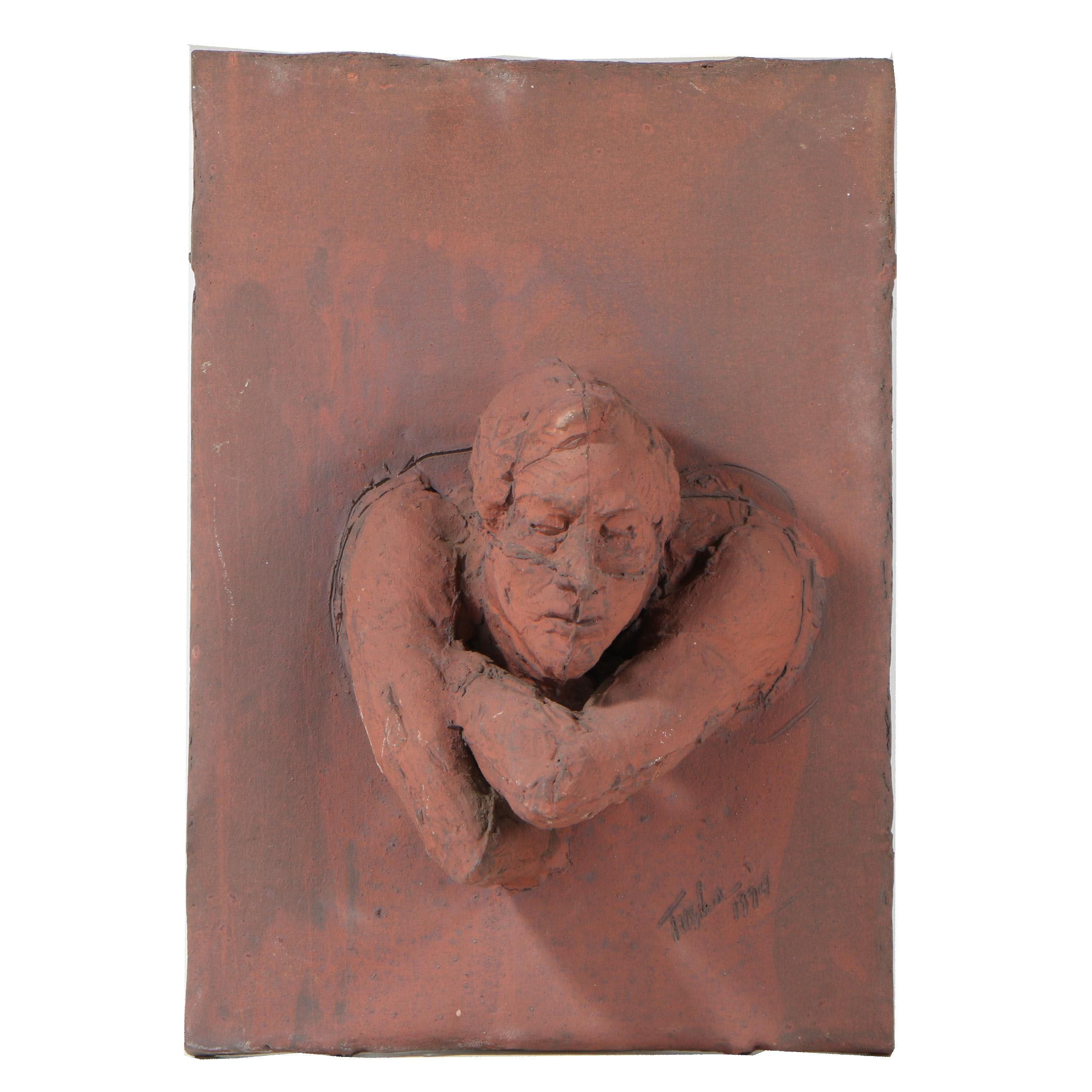 John Tuska 1974 Stoneware Relief Sculpture