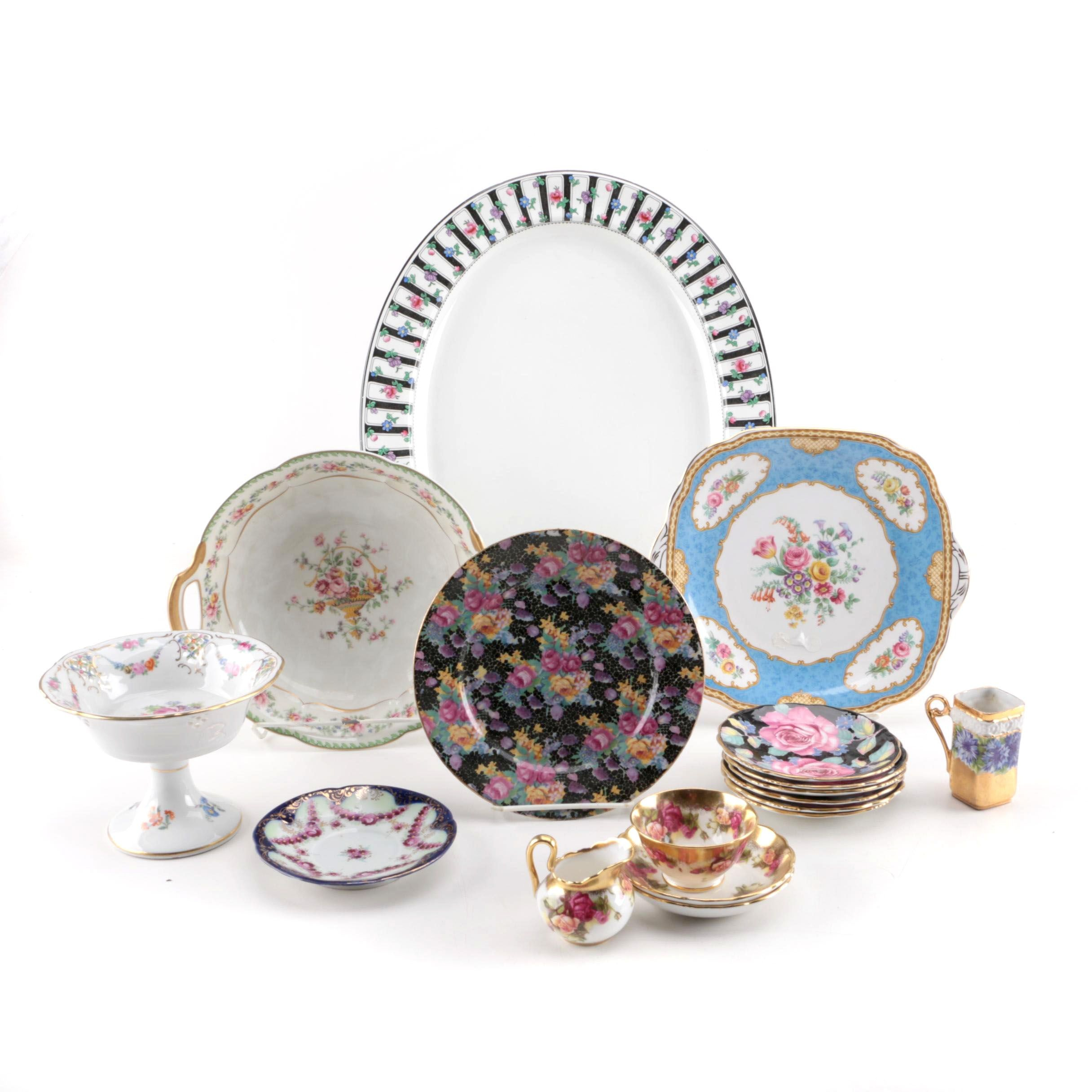 English Porcelain Saucers and Serveware