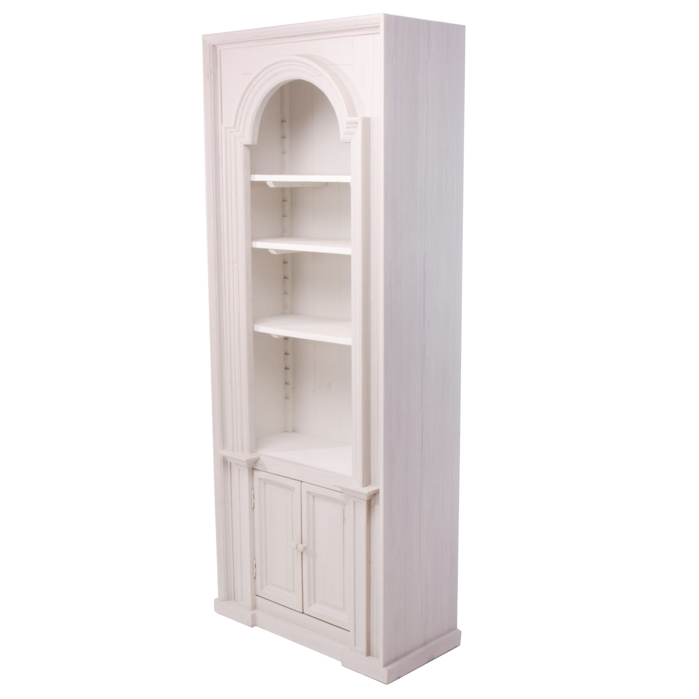 "French Provincial Style ""Chantilly"" Painted Pine Display Cabinet"