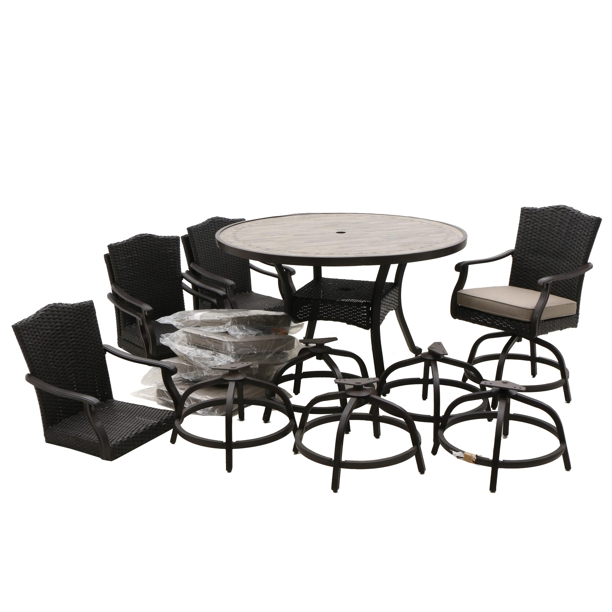 "Outdoor ""Sunbrella"" Chairs and Table Set"