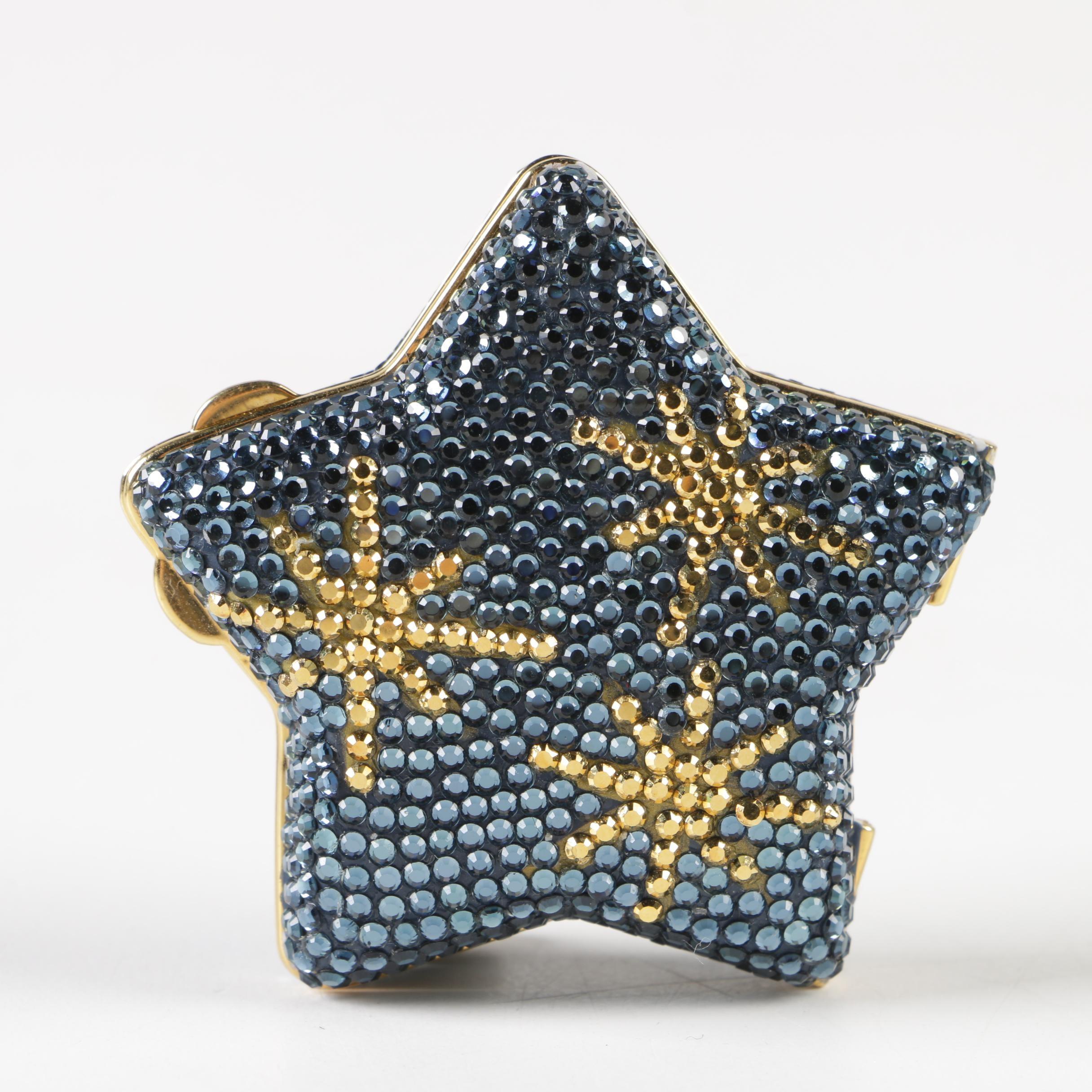 Judith Leiber Swarovski Crystal Star Pill Box