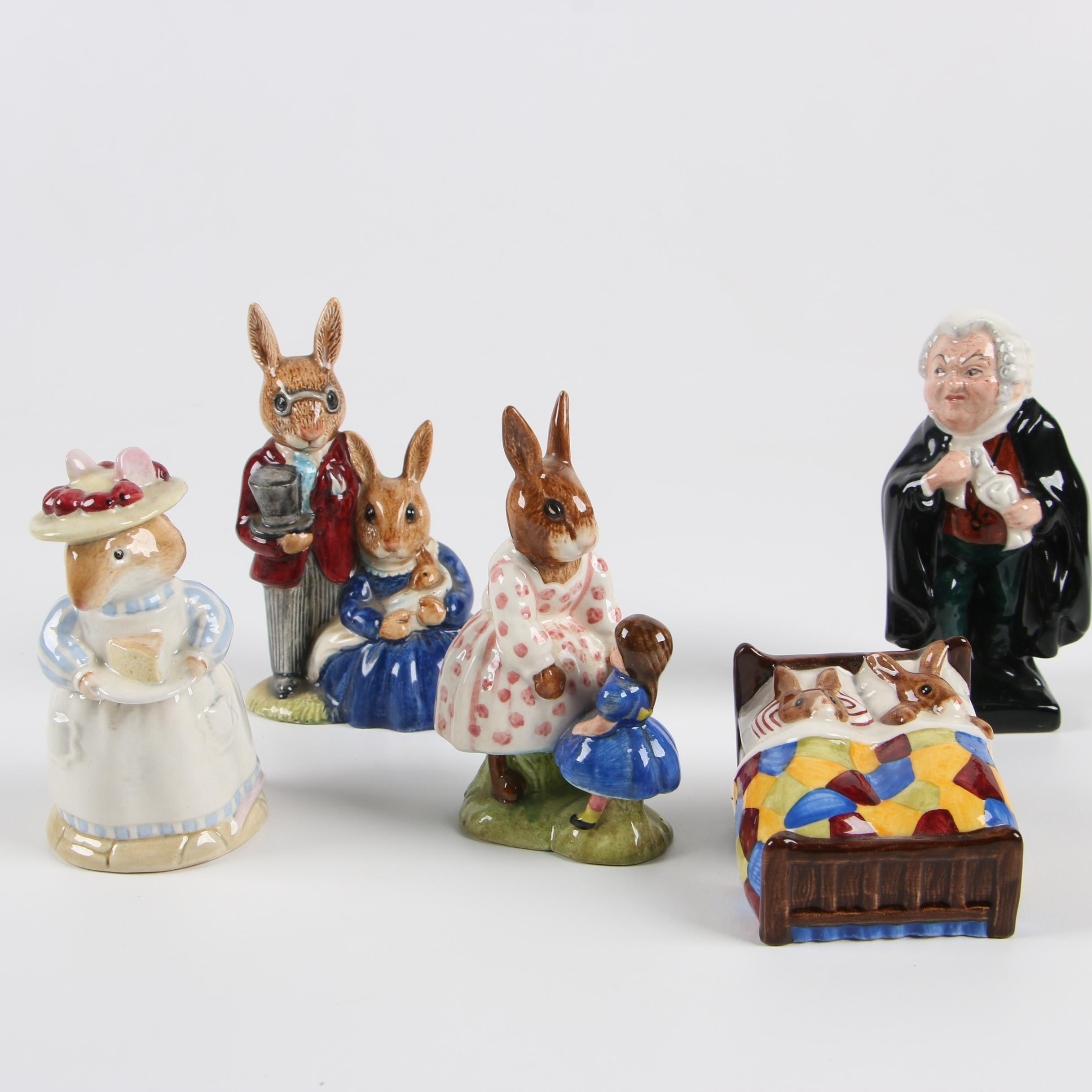 Vintage Royal Doulton Porcelain Figurines, Including Bunnykins