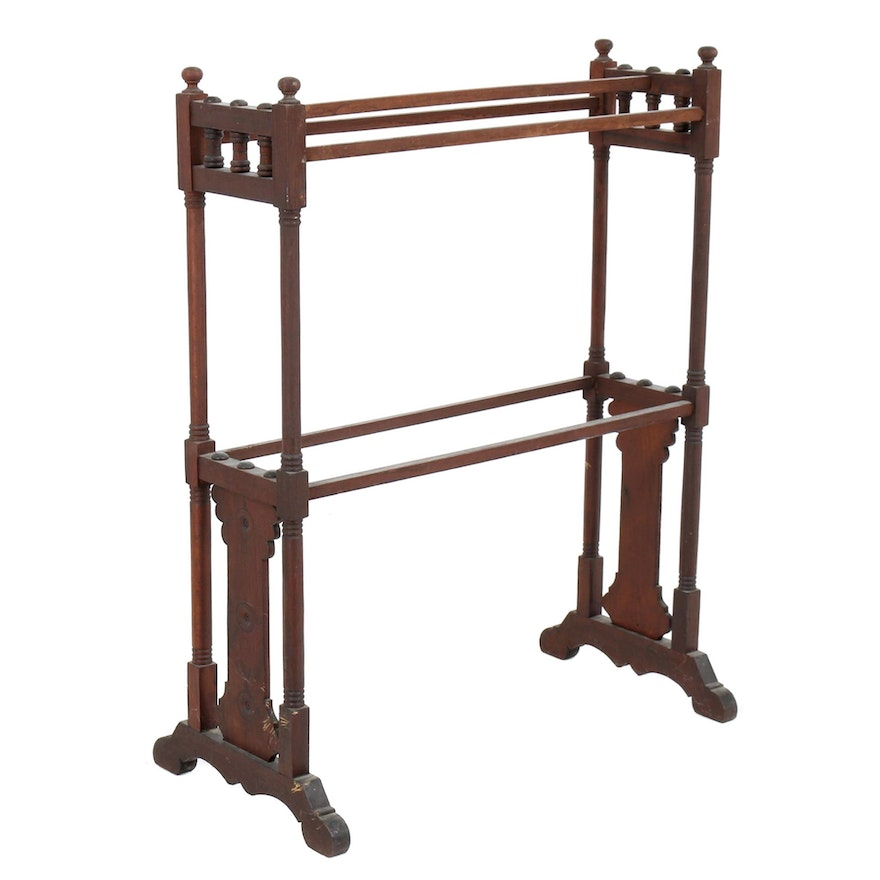 Sensational Eastlake Victorian Walnut Quilt Rack Late 19Th Century Short Links Chair Design For Home Short Linksinfo