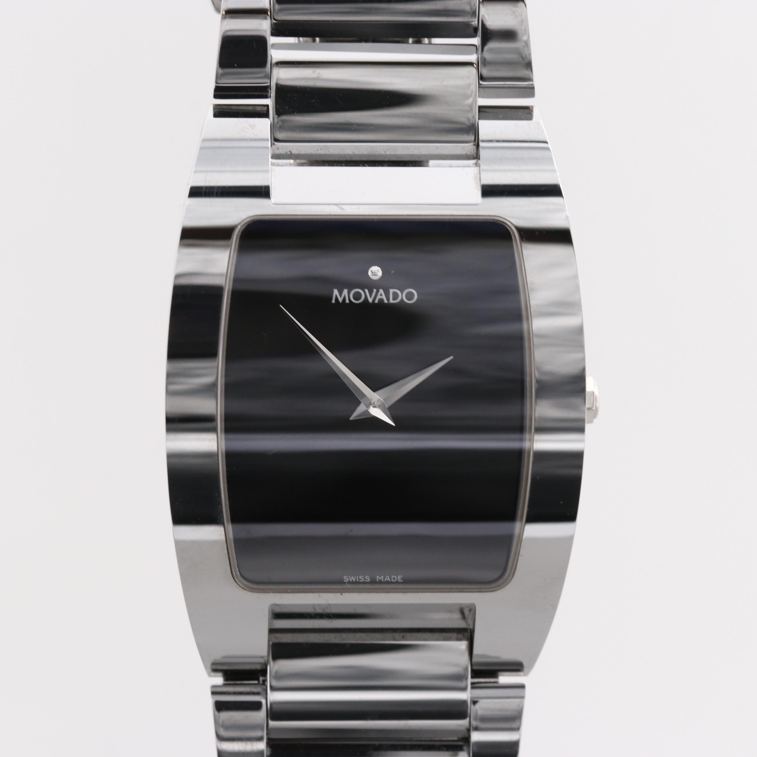 Movado Fiero Tungsten Carbide Quartz Wristwatch
