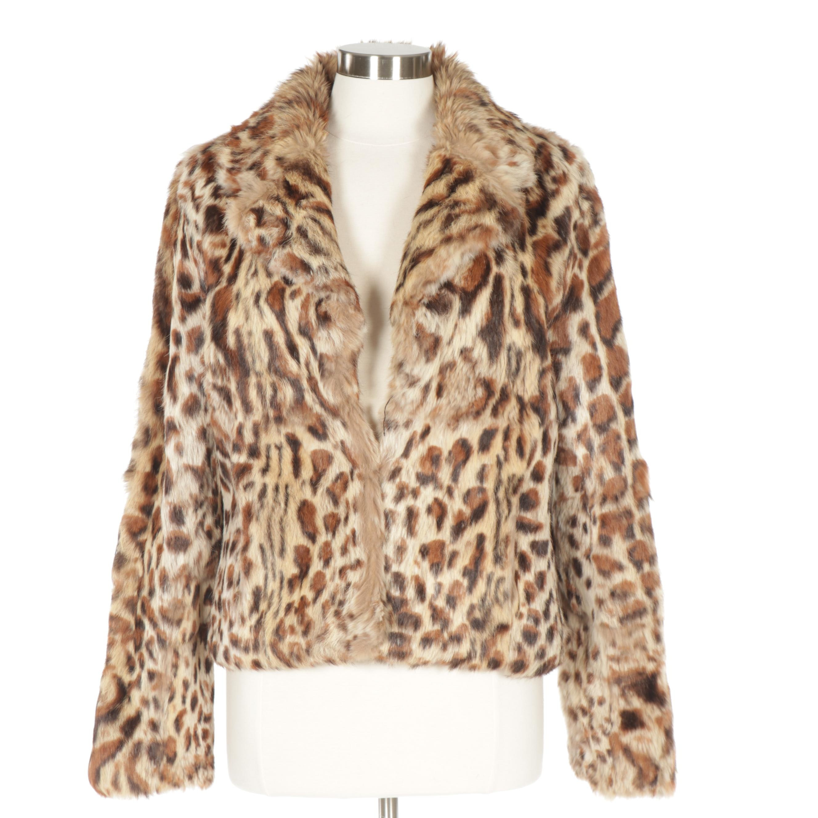Women's Marciano Dyed Rabbit  Fur Jacket