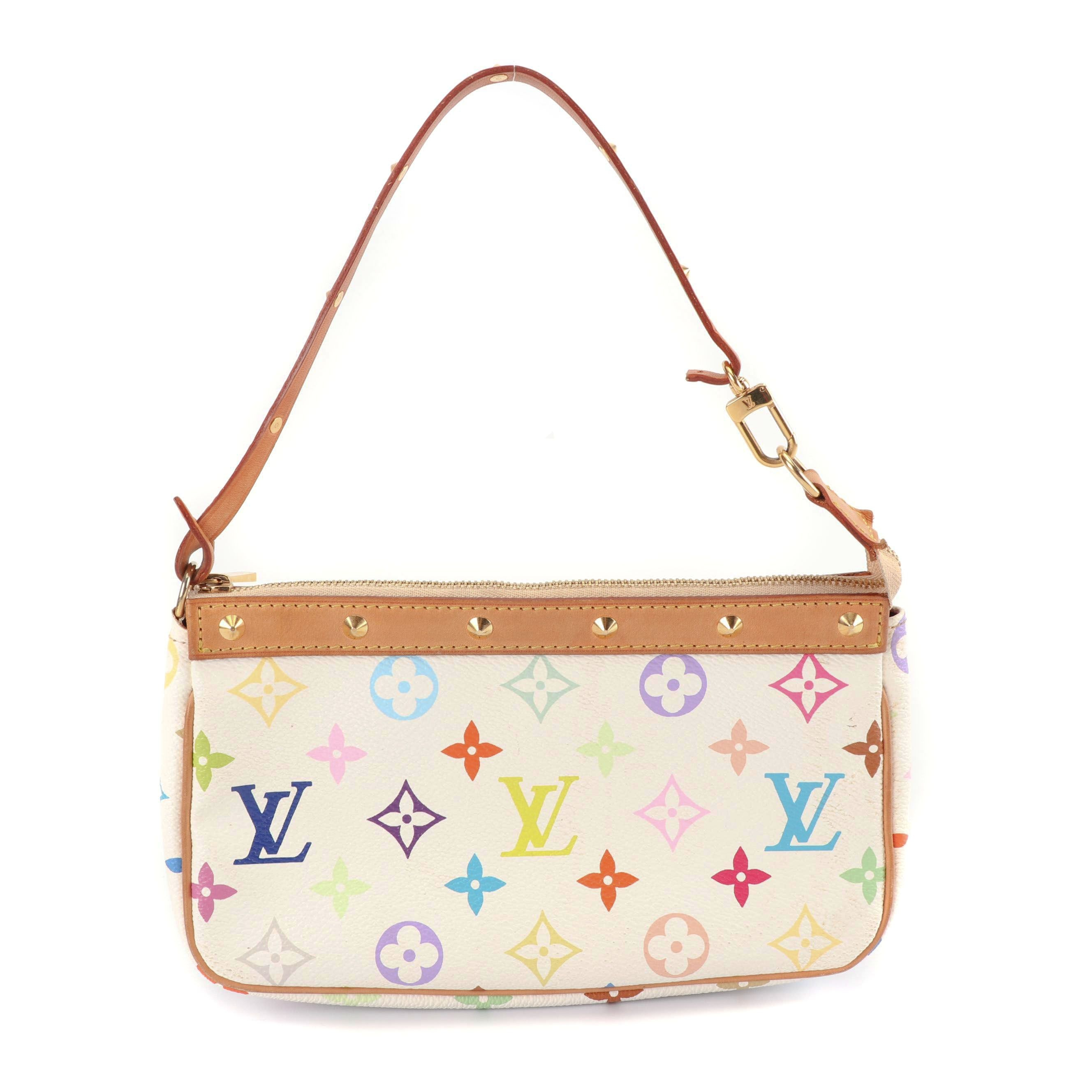 Louis Vuitton Monogram Multicolore Coated Canvas and Leather Pochette, 2003