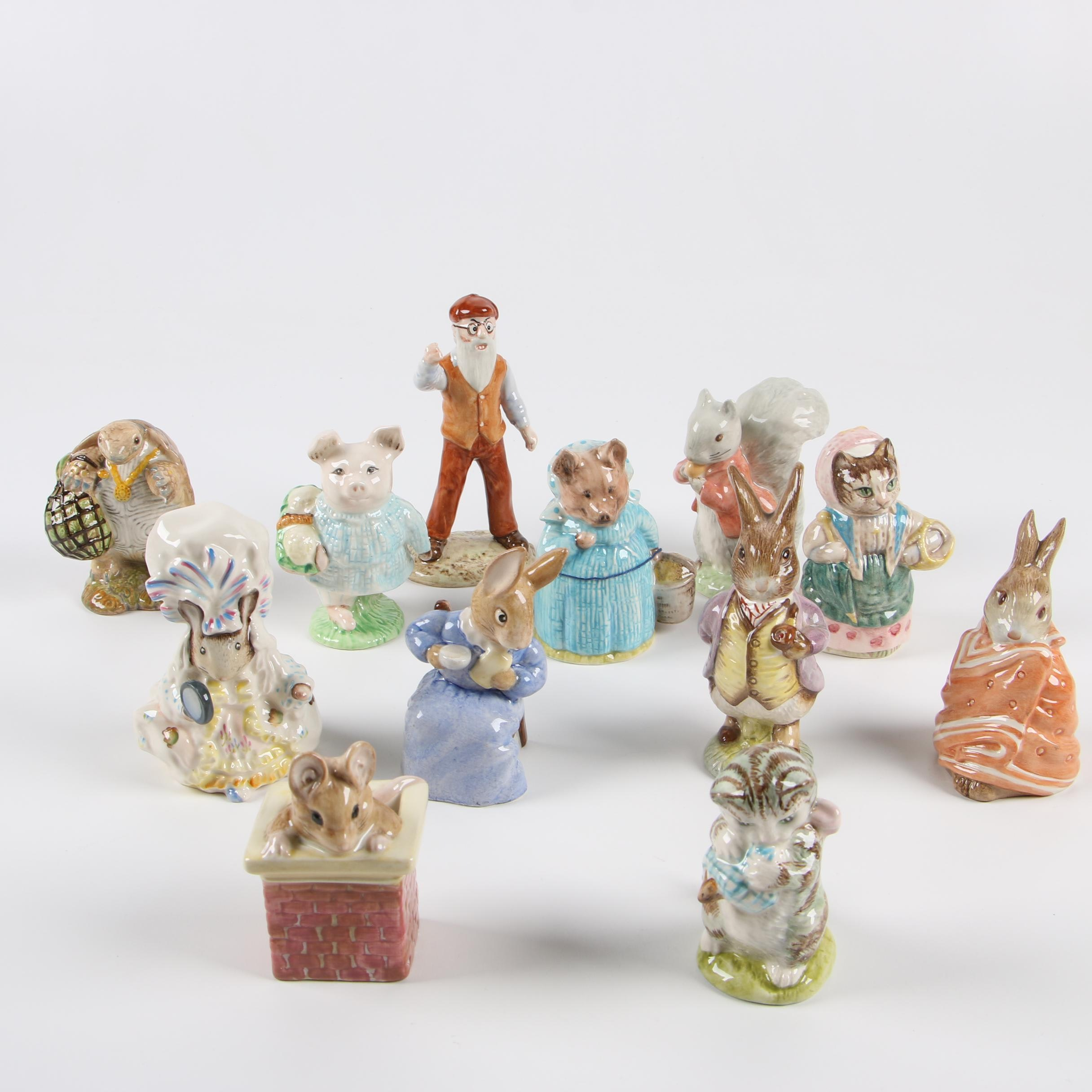 "Vintage Royal Albert ""Beatrix Potter"" Porcelain Figurines"