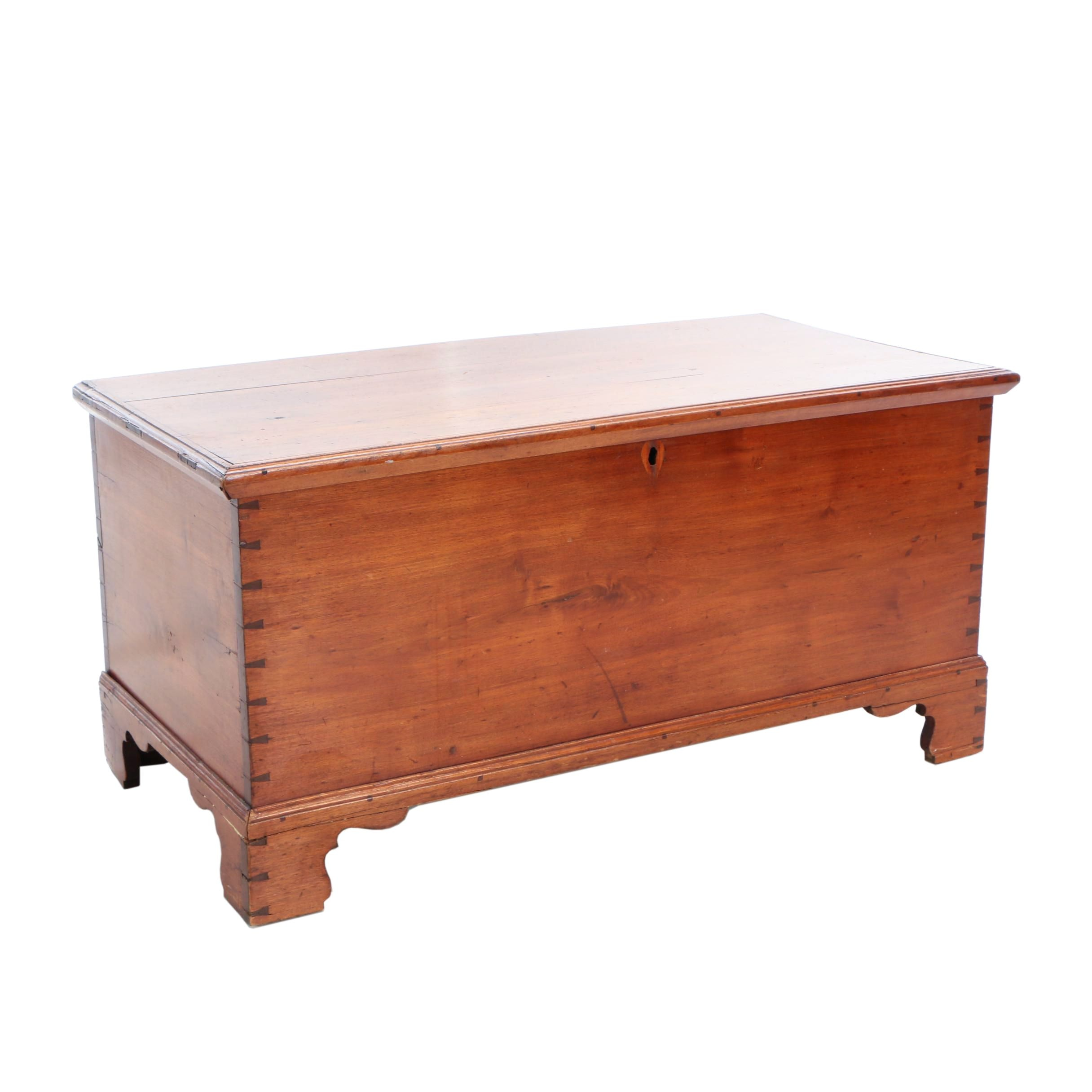 American Chippendale Walnut Blanket Chest, Late 18th Century