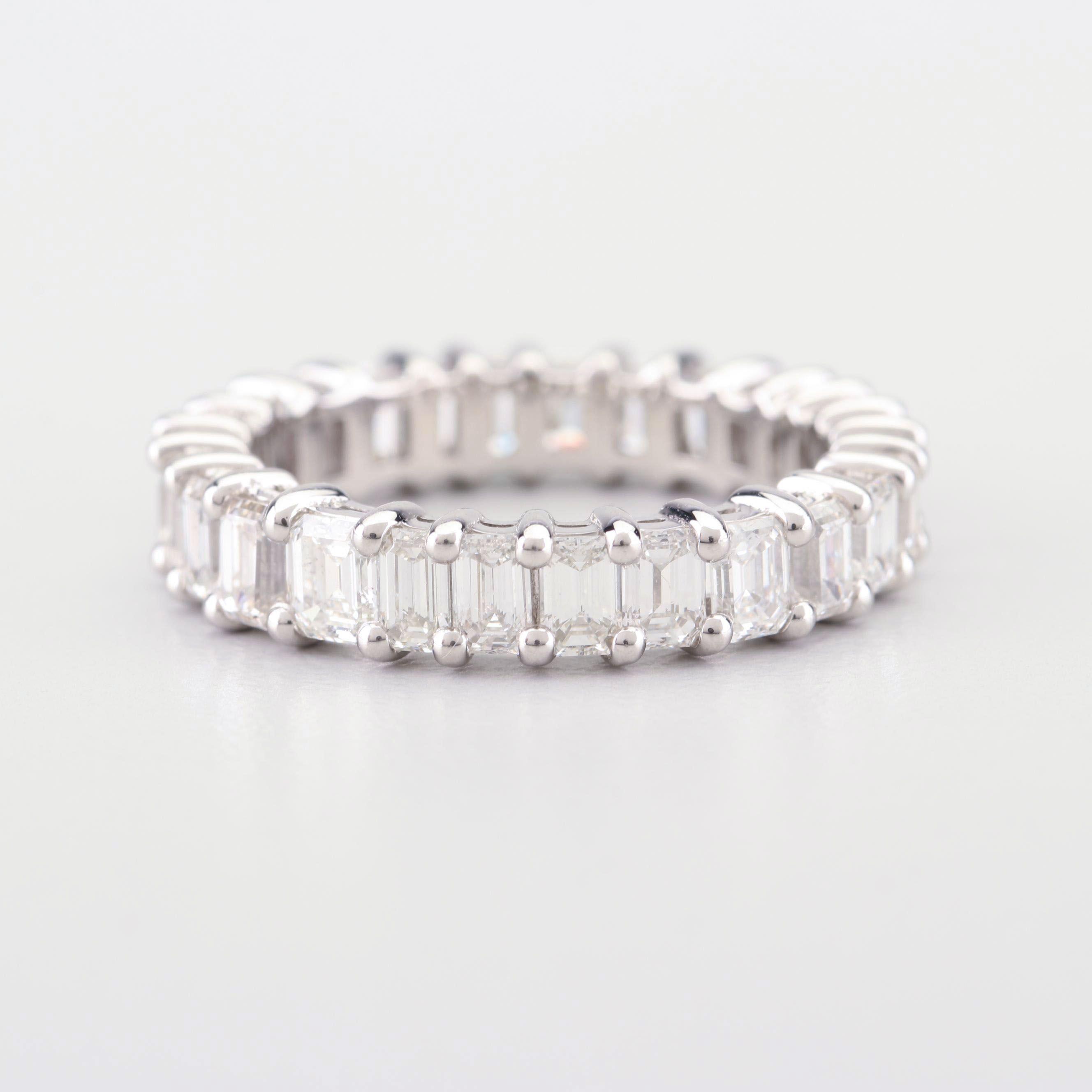 Platinum and 4.75 CTW Diamond Infinity Ring