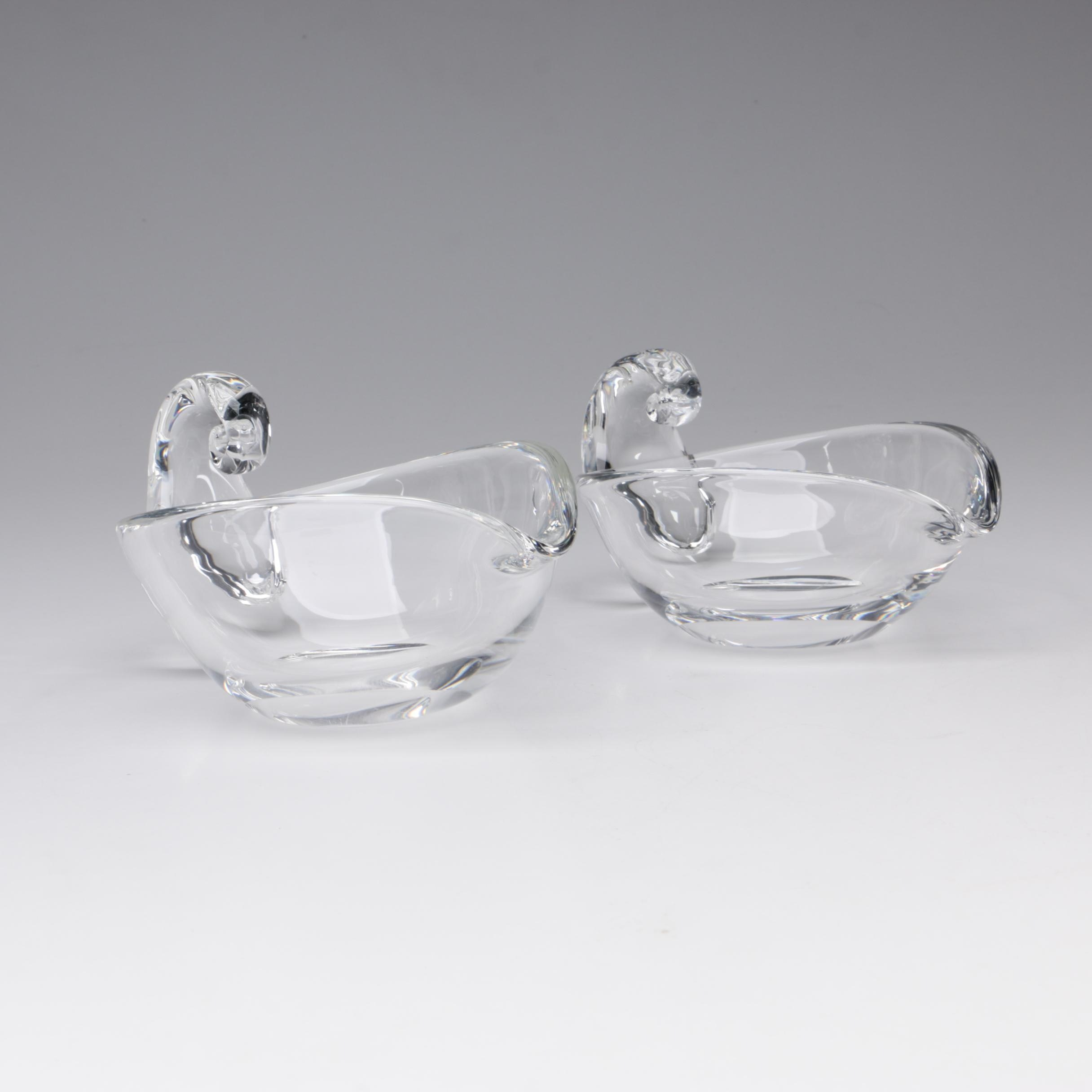 Steuben Art Glass Cream Pitchers Designed by Irene Benton, 1947