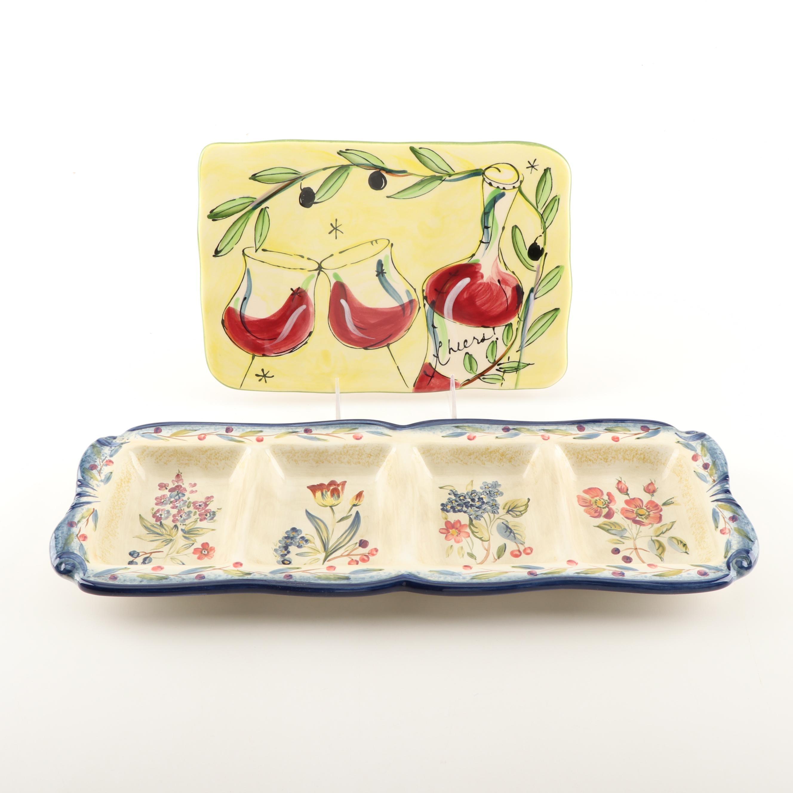 Ceramic Serveware by Fiora and Julia Junkin