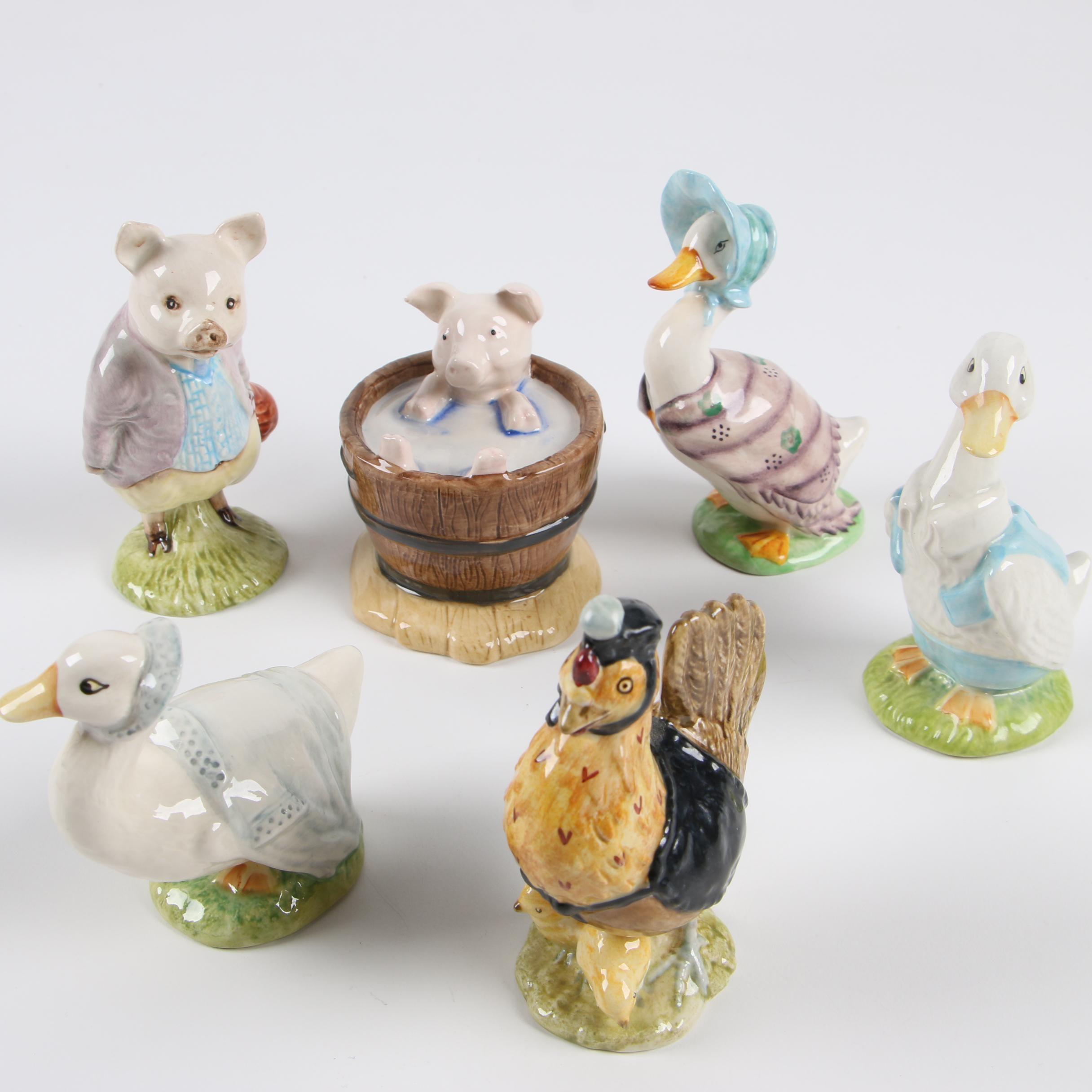 "Beswick ""Beatrix Potter"" Porcelain Figurines"