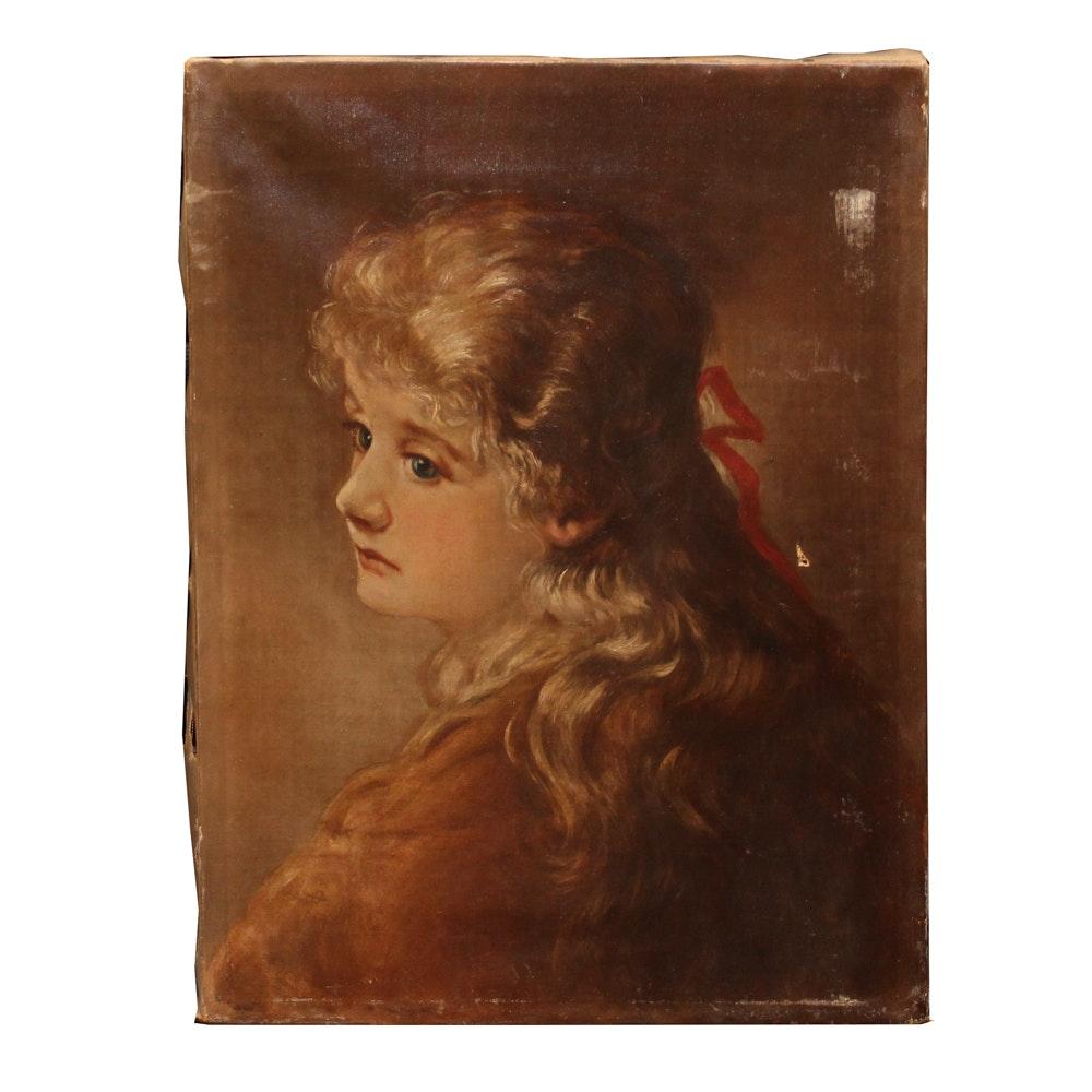 Copy Oil Painting after Victorian Era Portrait