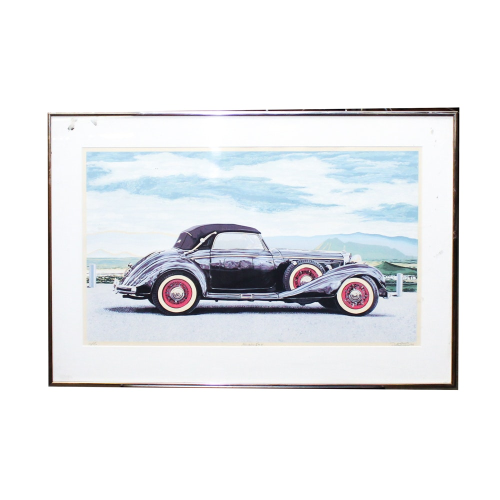 "Dallas John Serigraph ""Mercedes 540 K"""