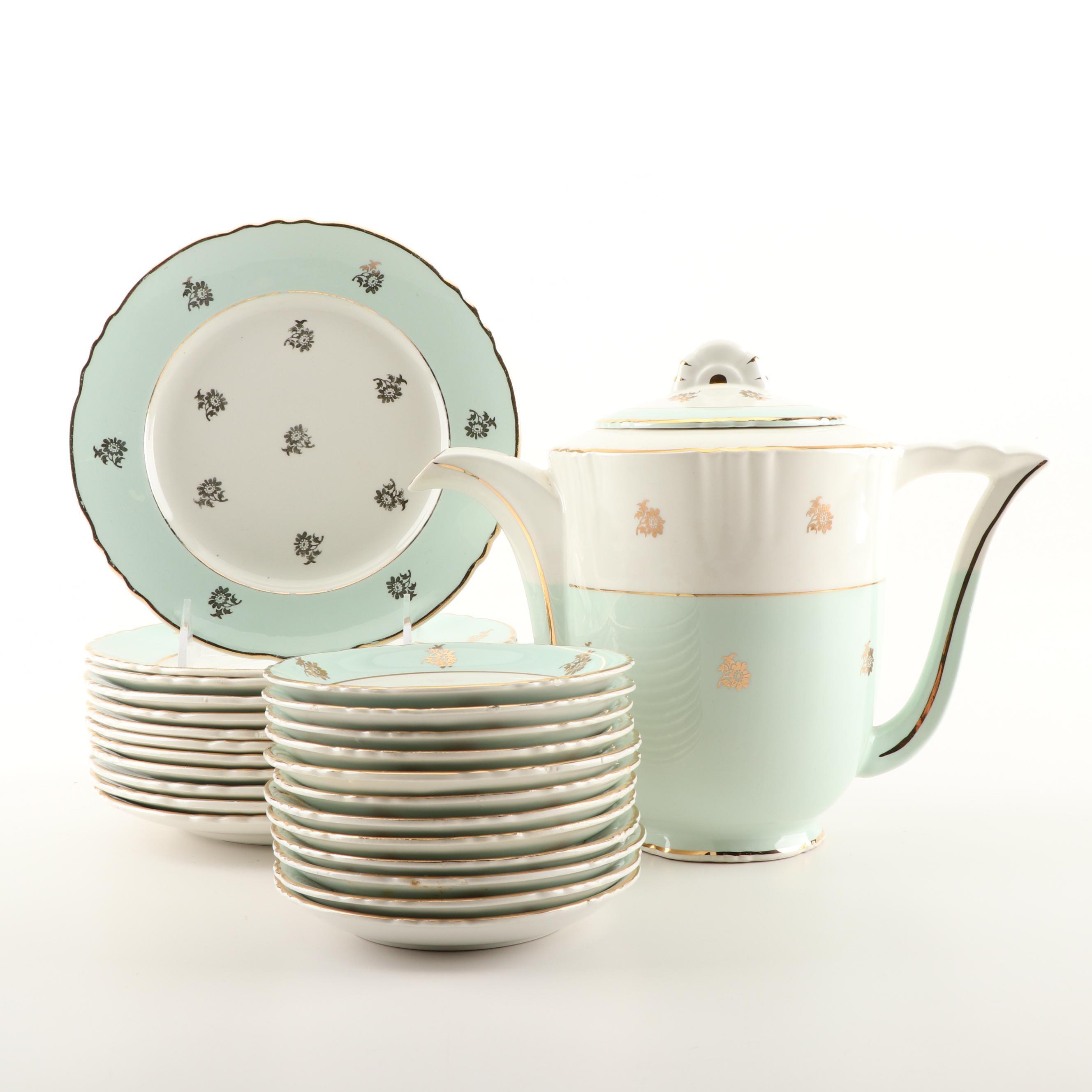 Hermes French Faïence d'Orches Porcelain Dessert Service