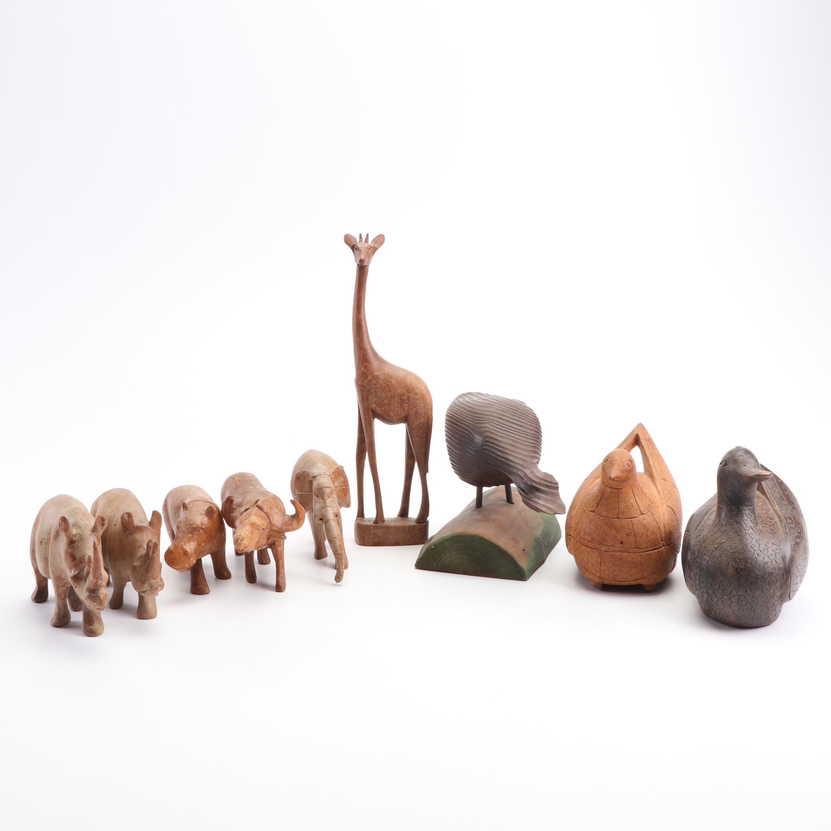 Hand-Carved Wooden Animals