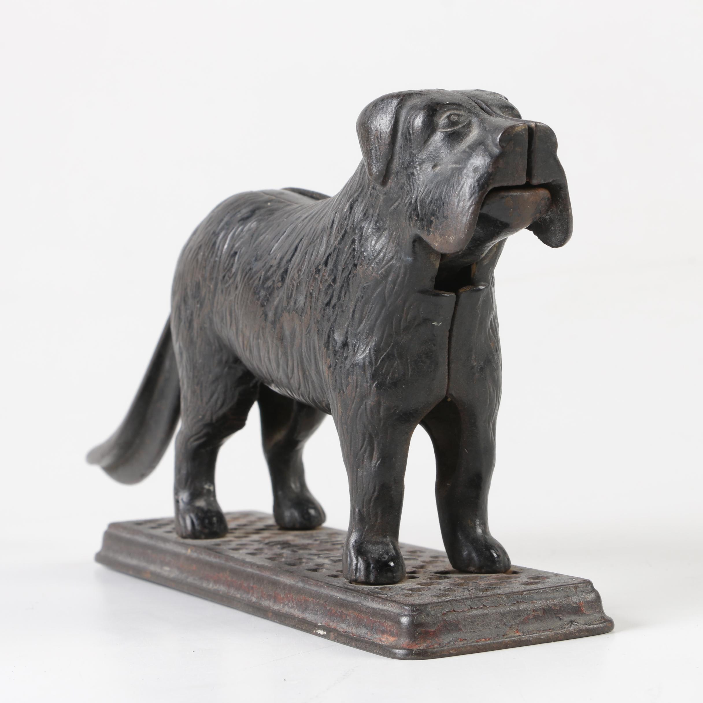 Harper Supply Co. Cast Iron Dog Tray Nutcracker, Late 19th/Early 20th Century