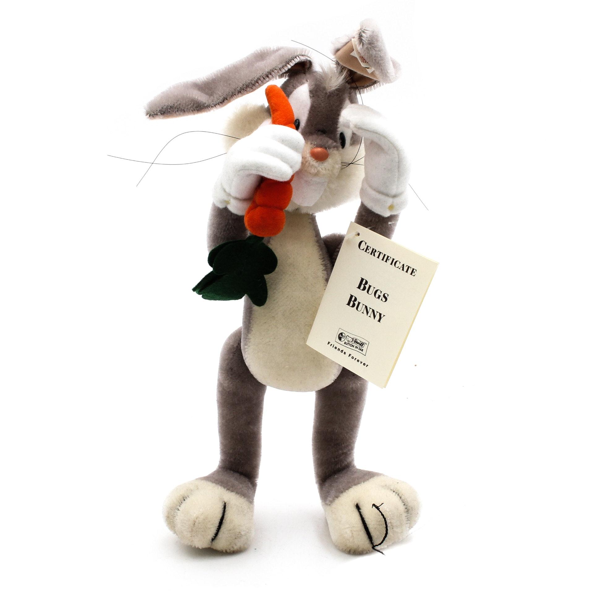 Limited Edition Steiff Bugs Bunny Stuffed Toy
