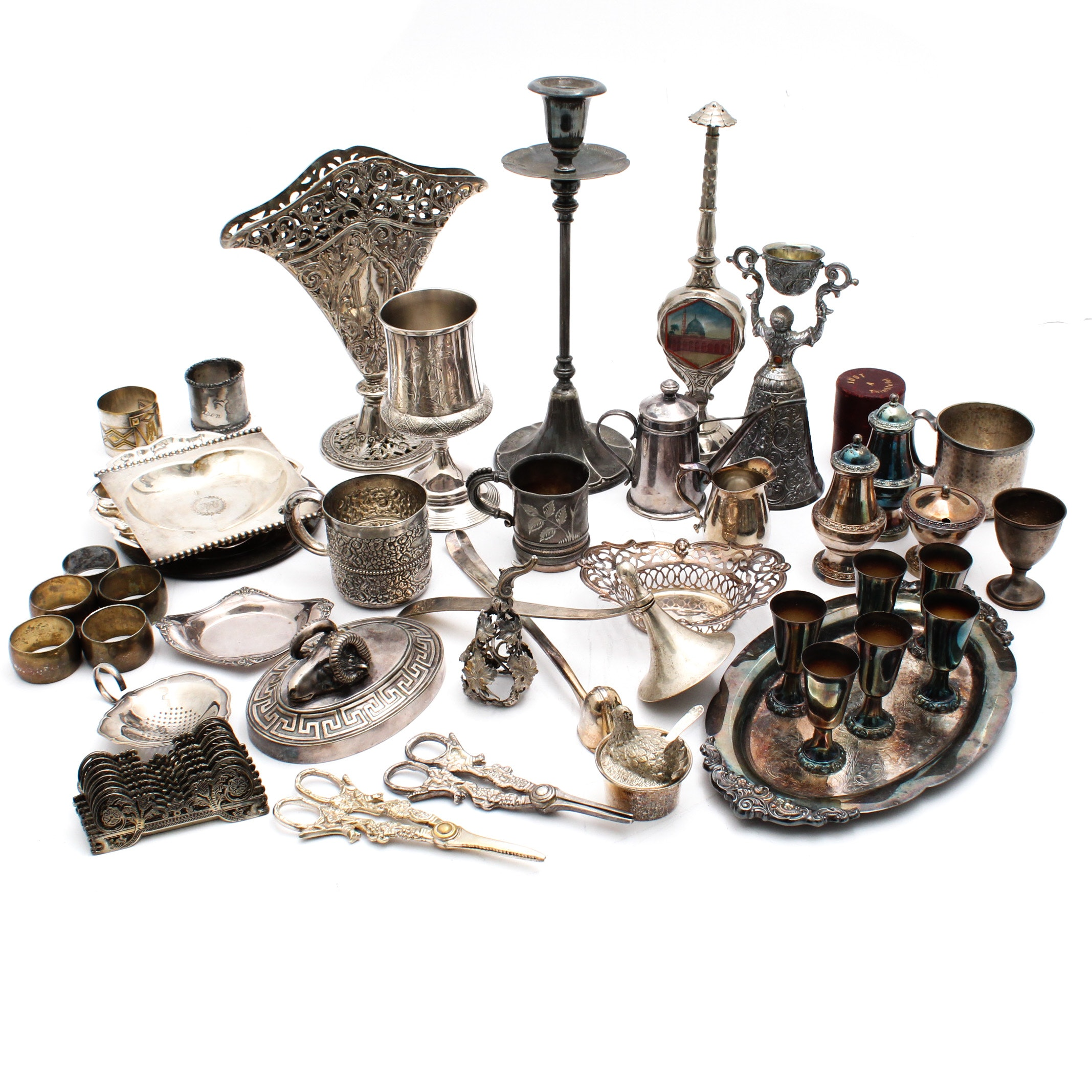Silver Plate Accessories Featuring Tufts, Derby, Reed & Barton, Meriden,Godinger