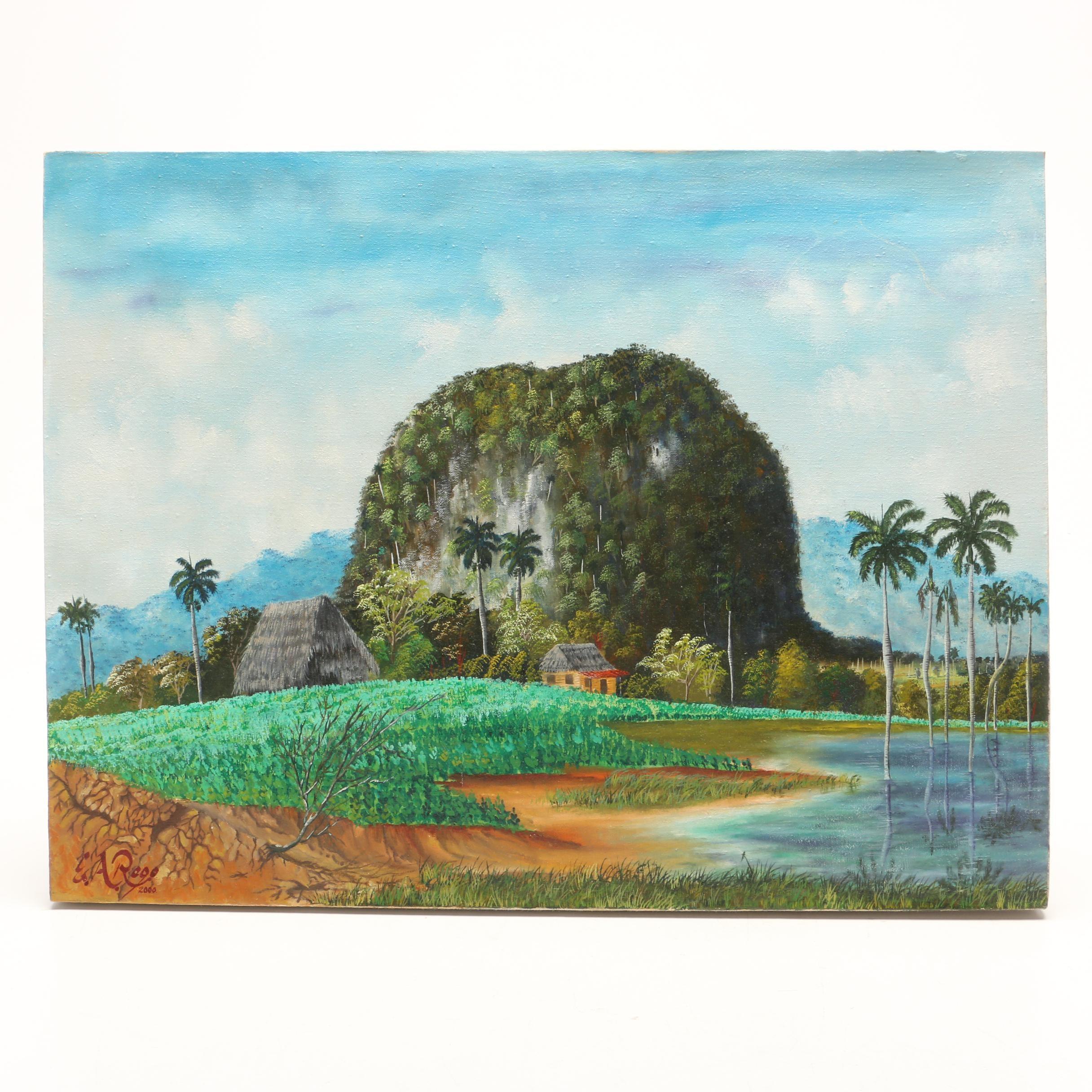 Emilio Antonio Regofoledo Cuban Landscape Oil Painting