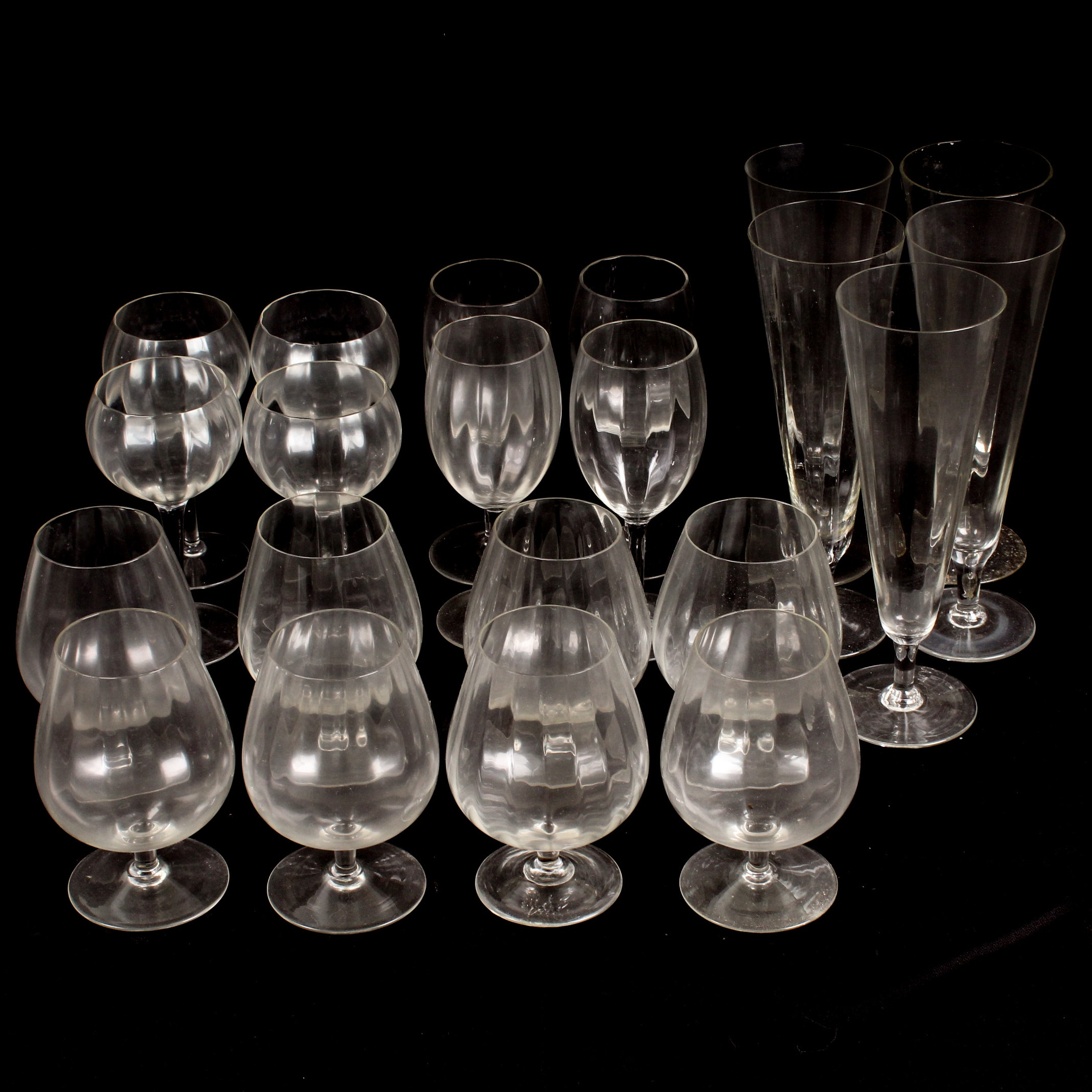 Faceted Glass Stemware