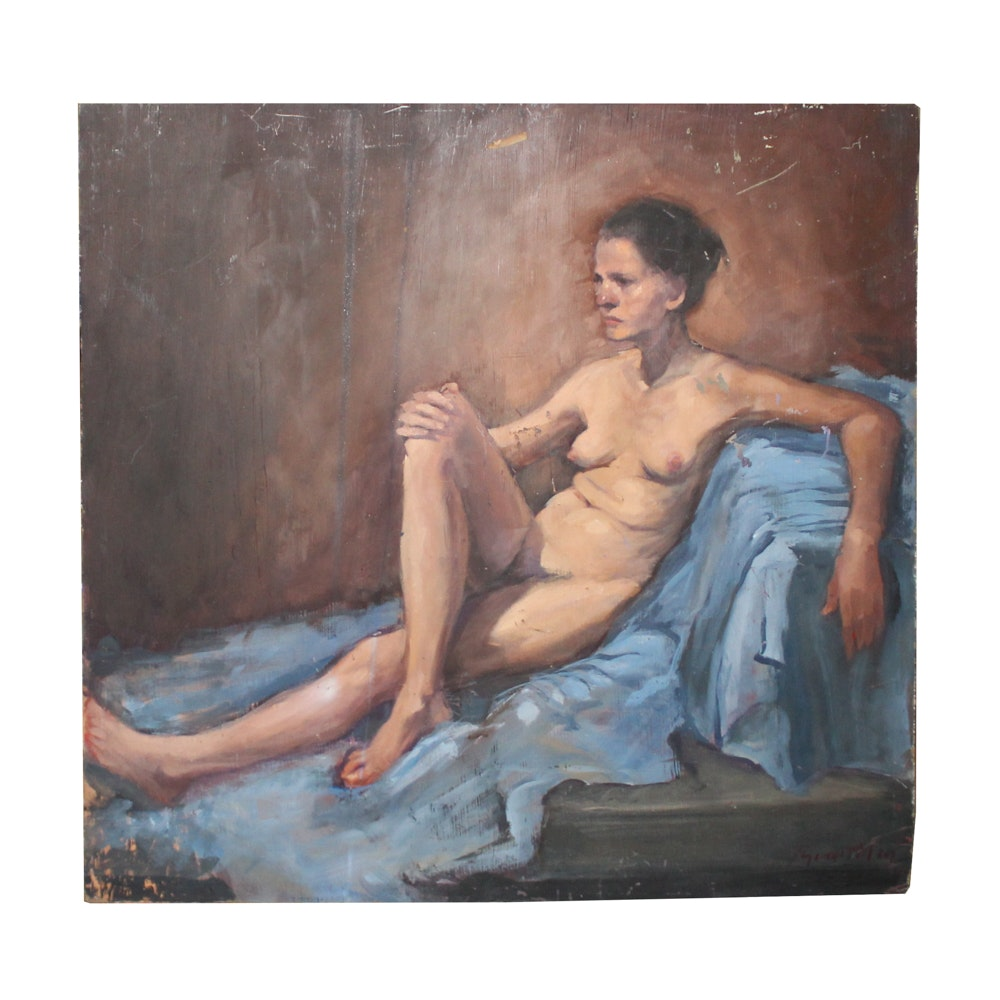 Colin Brantley Oil Painting of Female Nude