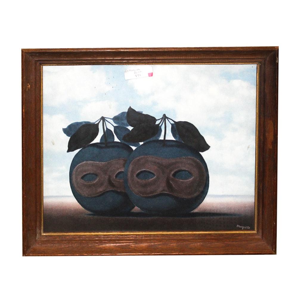 Offset Lithograph After René Magritte
