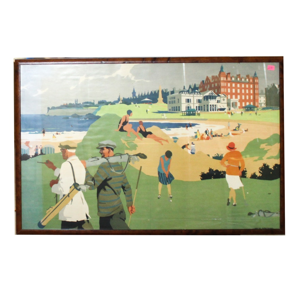 """Offset Lithograph after Henry George Gawthorn """"Golf"""""""