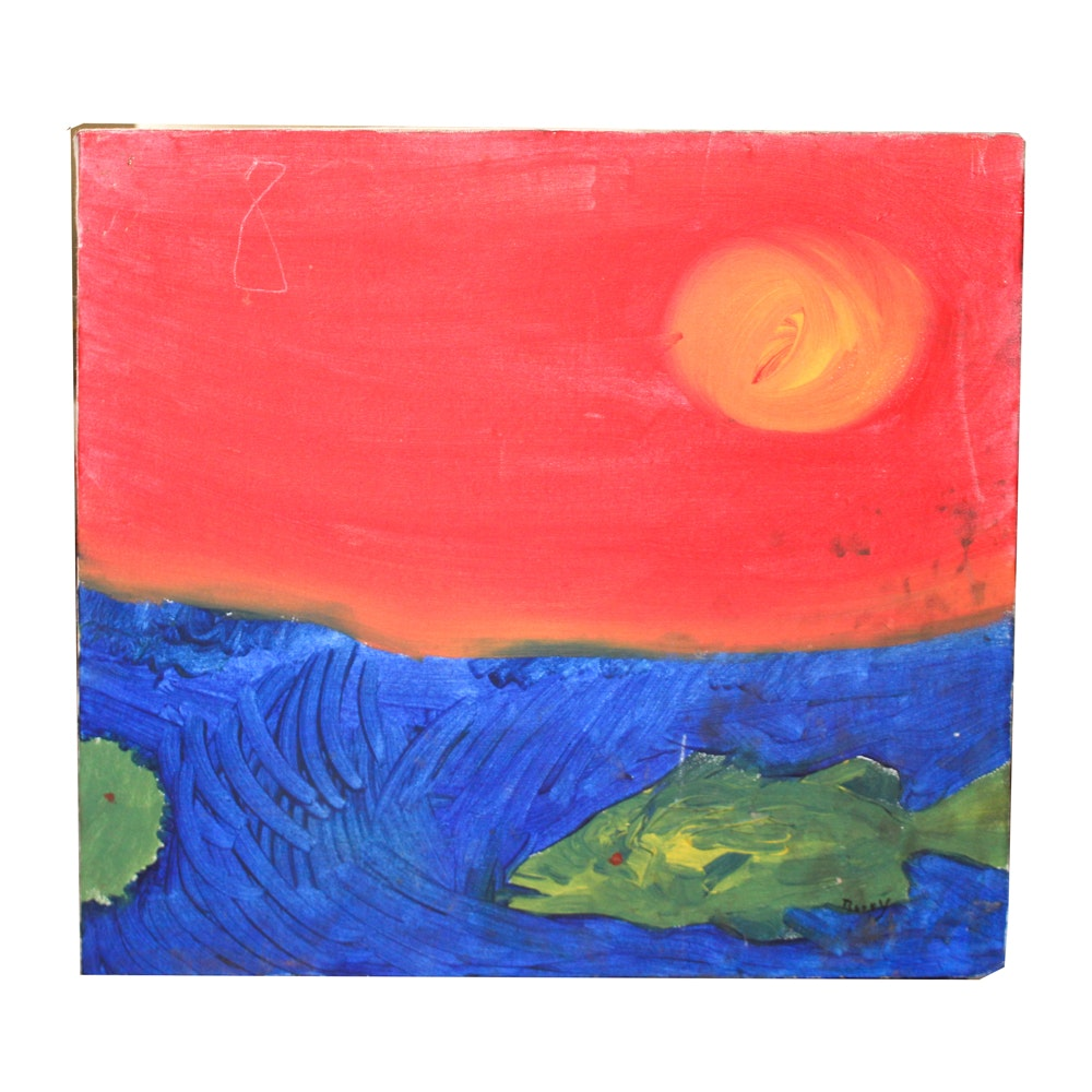 "Barry Oil Painting ""Sunset Fish"""