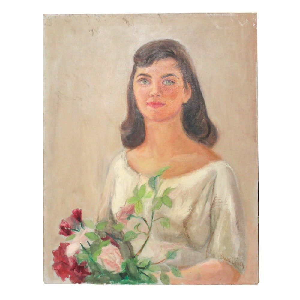 Jacke Leacy Oil Painting of Girl