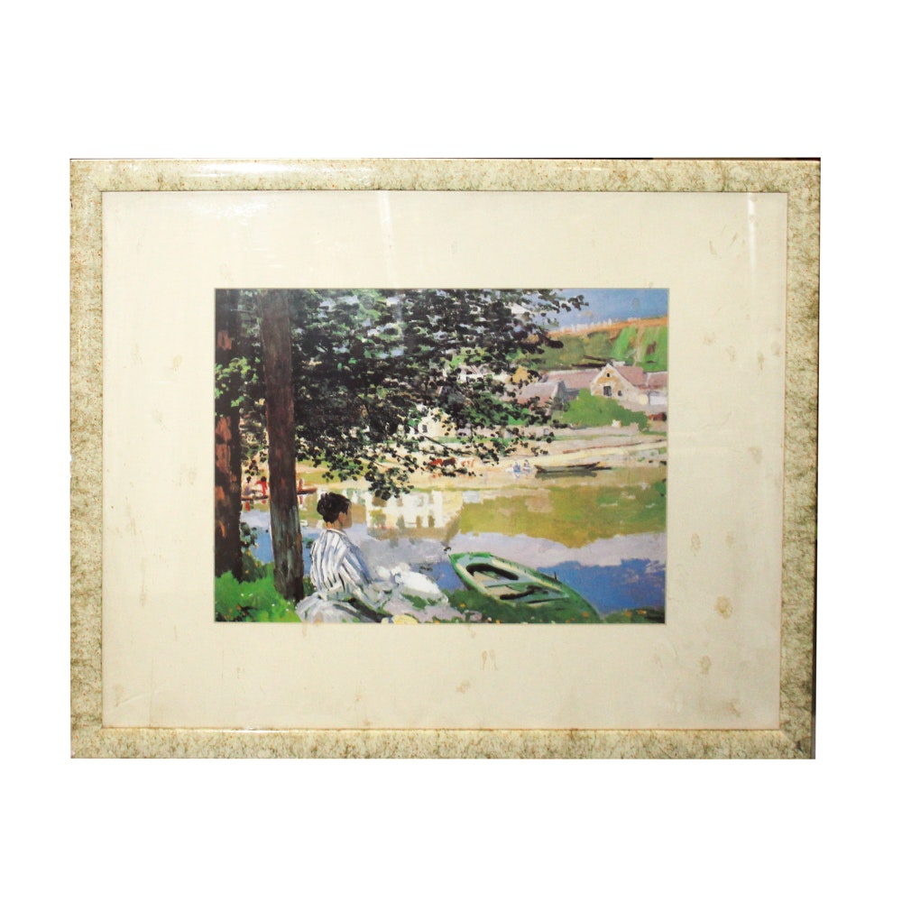 """Offset Lithograph After Claude Monet """"The River"""""""
