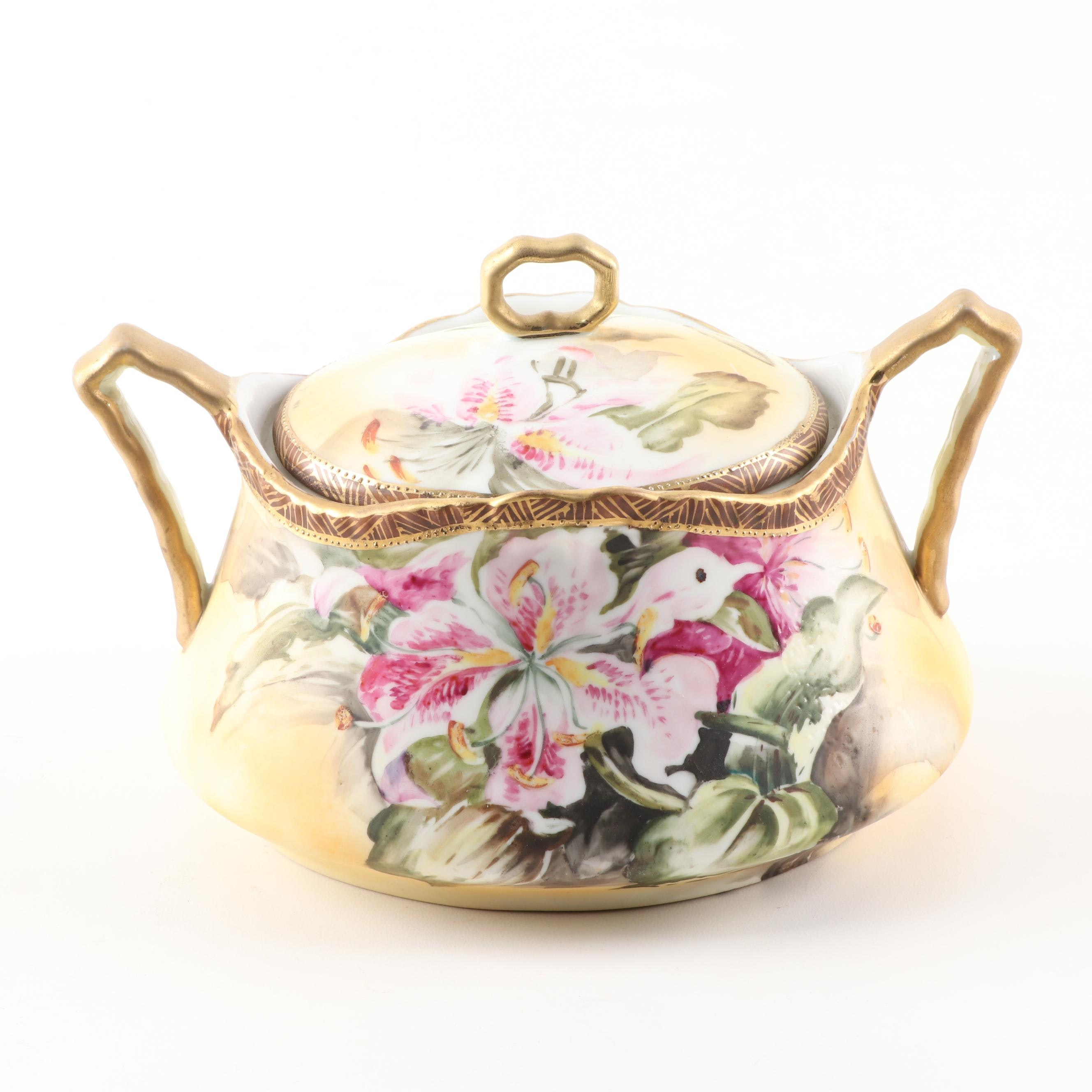 Hand Painted Lidded Bowl