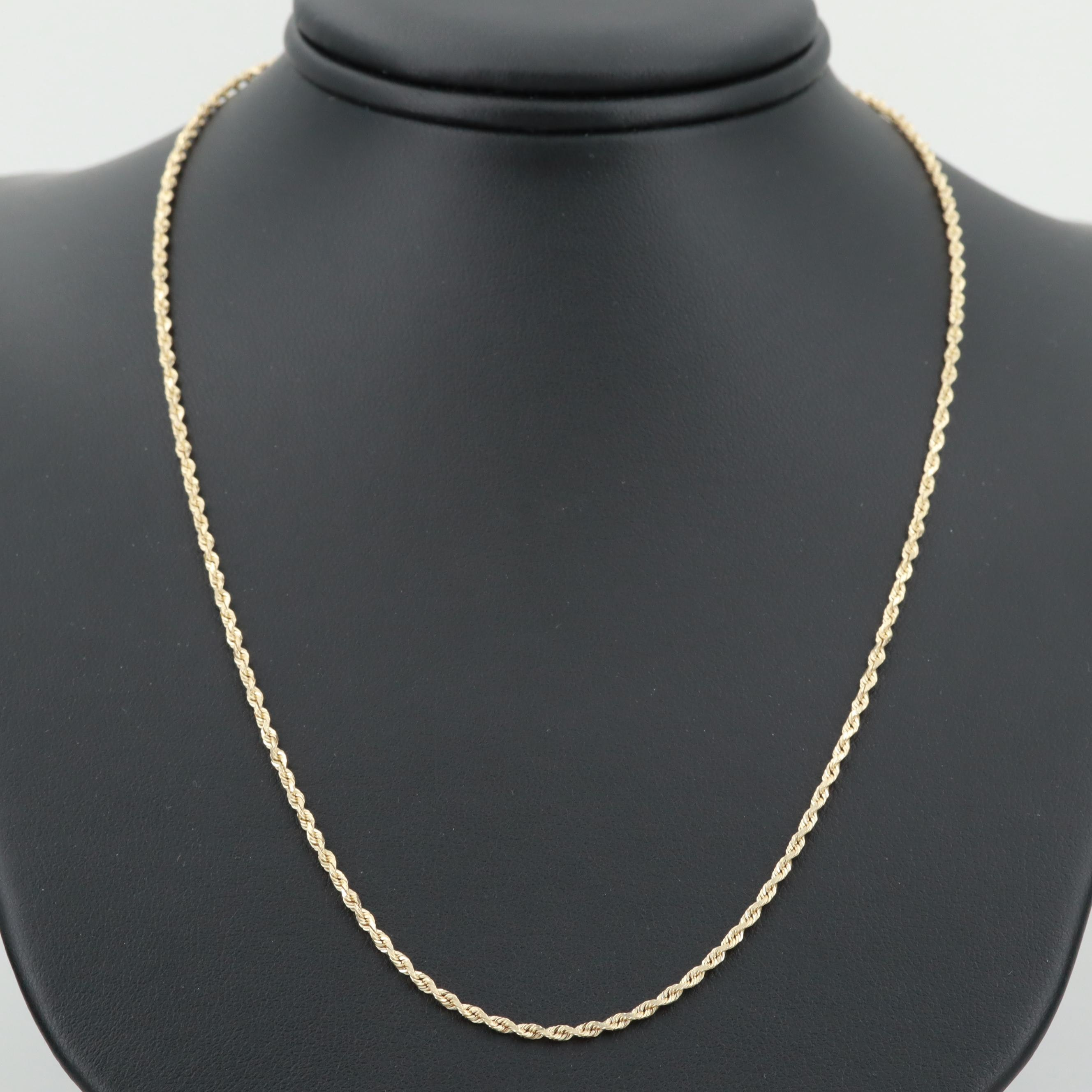 Michael Anthony 14K Yellow Gold Rope Chain Necklace