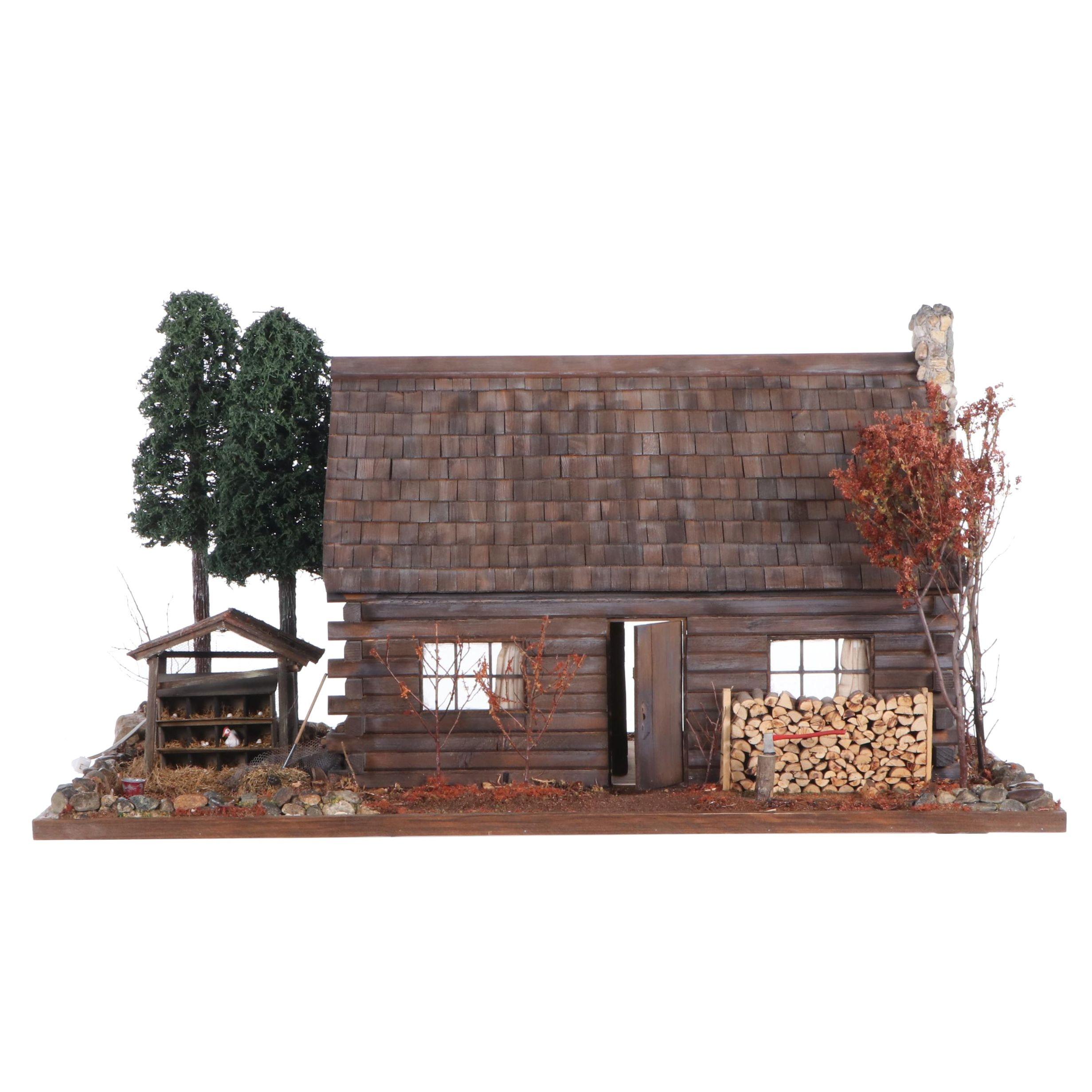 Log Cabin Electrified Dollhouse