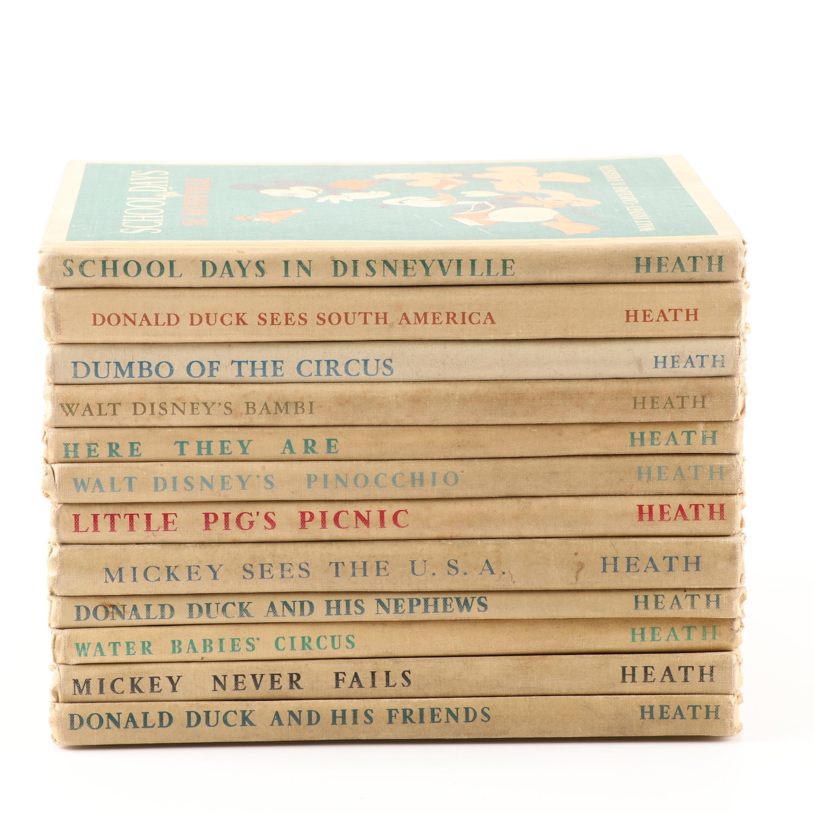 "Walt Disney Story Books Including ""School Days in Disneyville"""