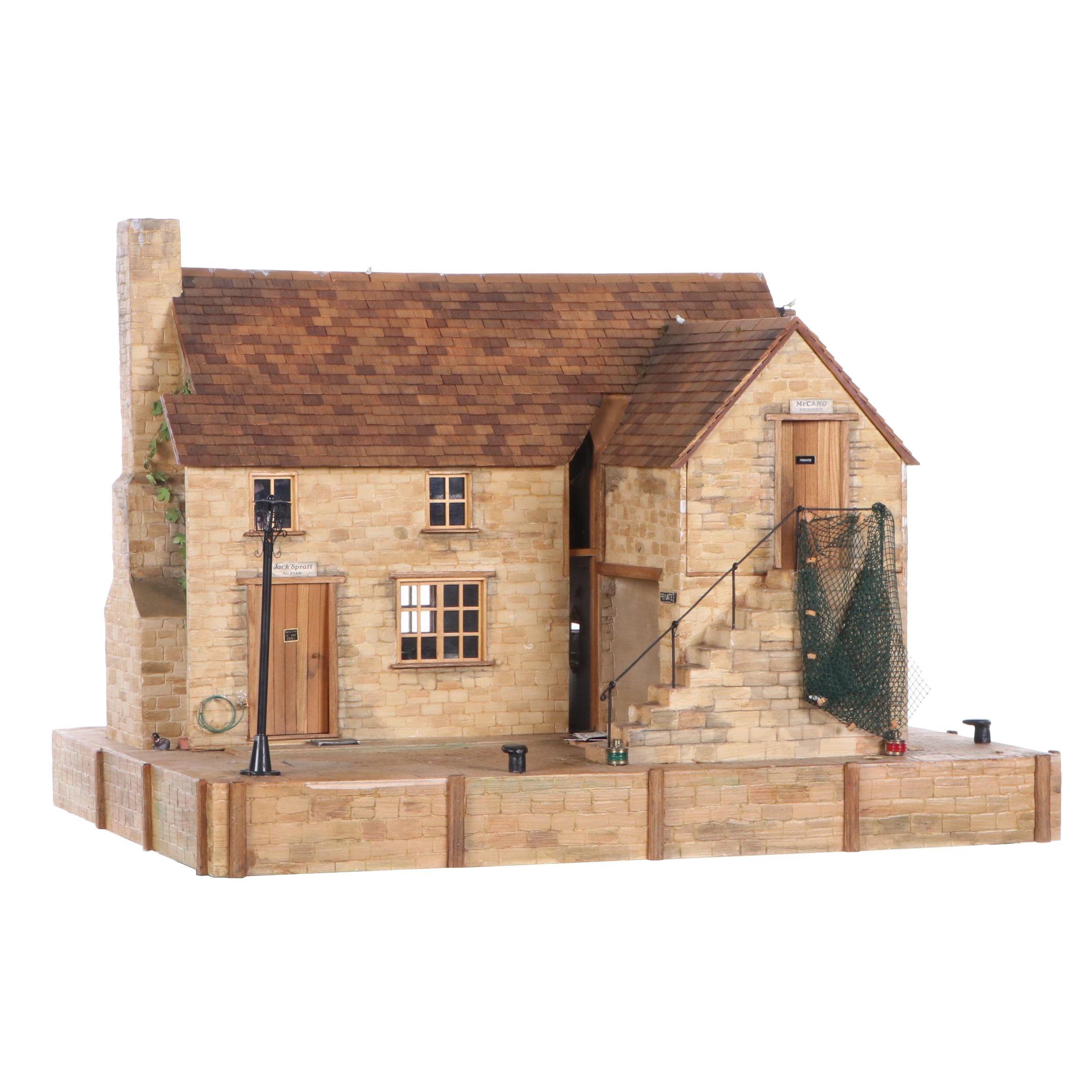 Brian Nichols Furnished Fisherman's Cottage Dollhouse Miniature, 1990