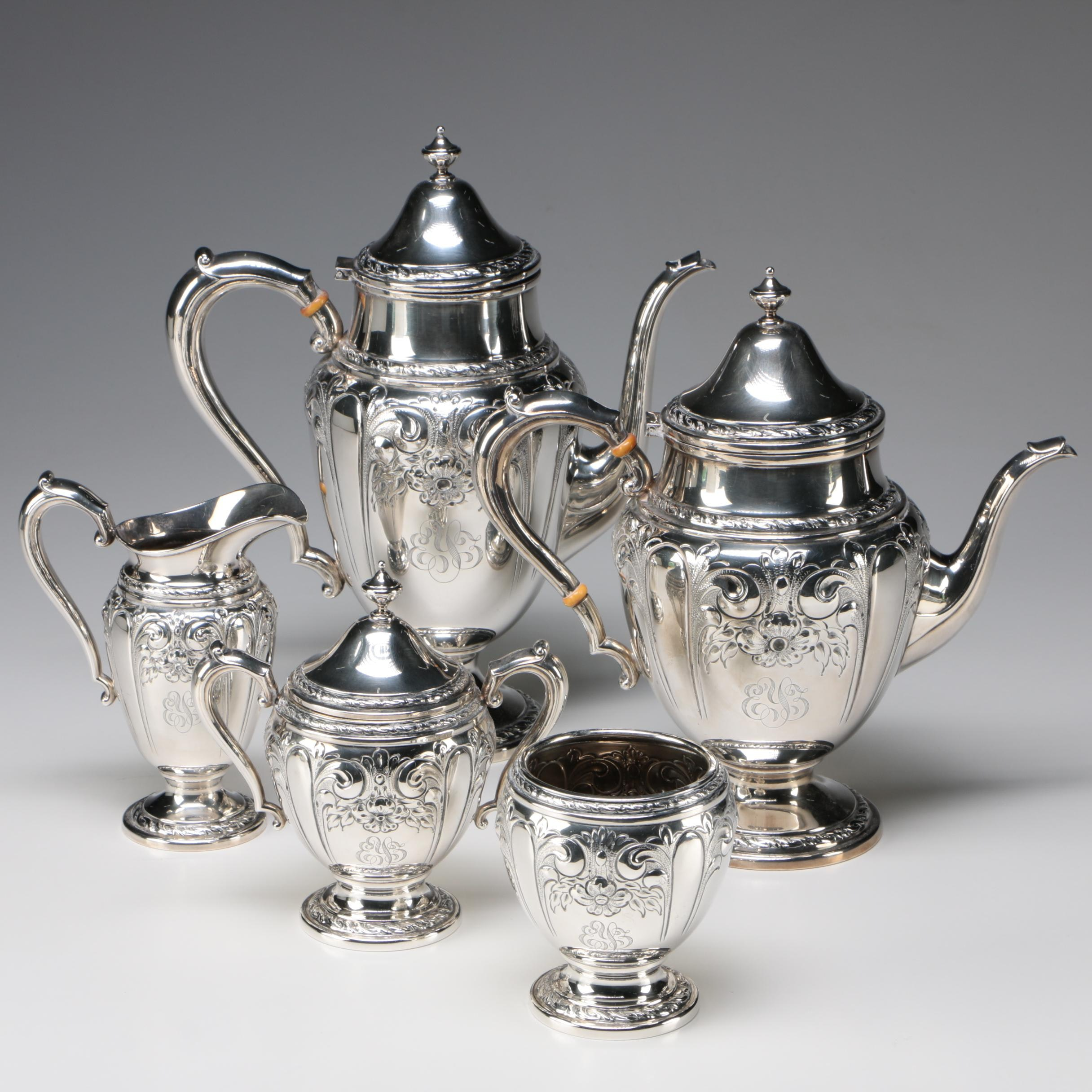 Amston Sterling Silver Tea and Coffee Service