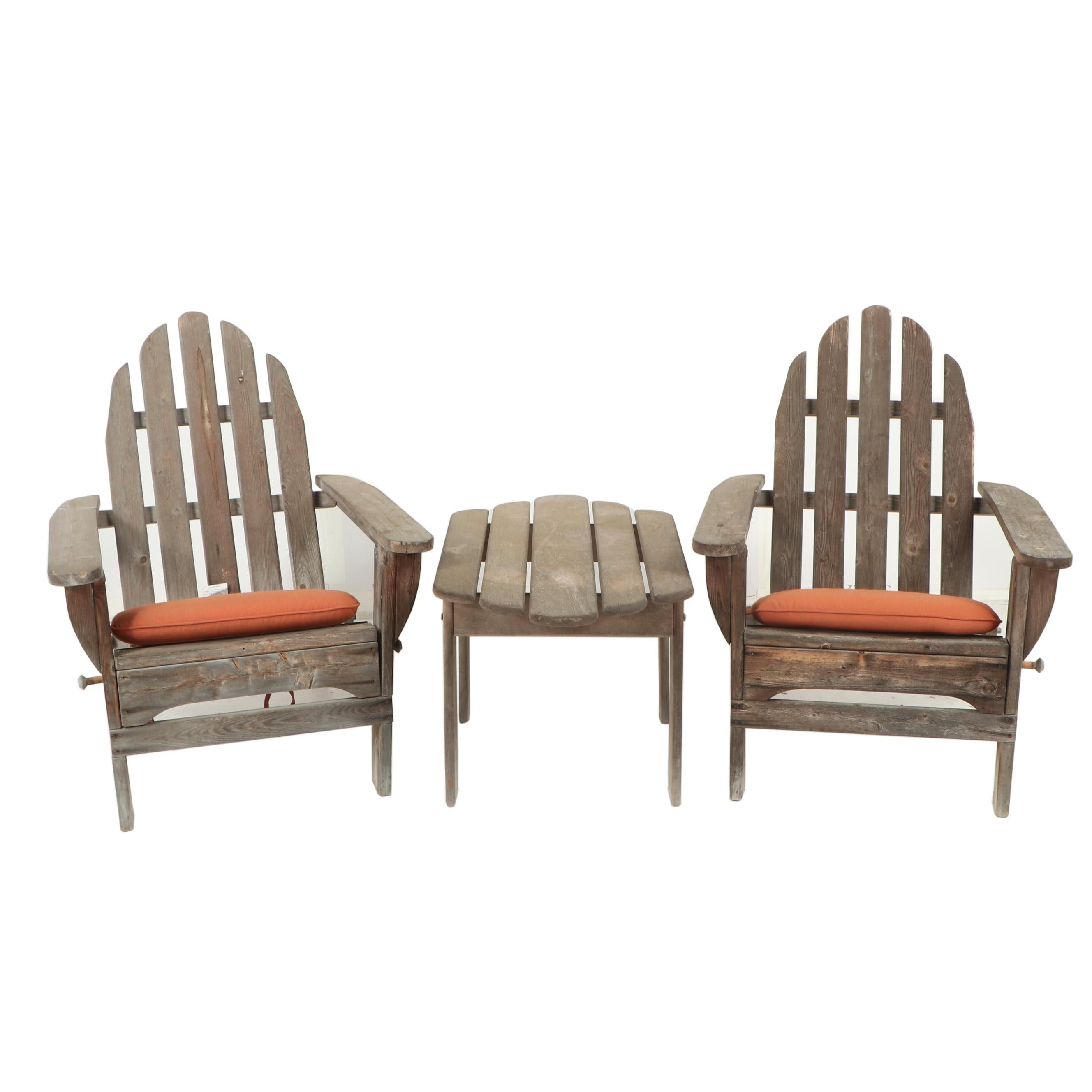 Two Patio Chairs and Table