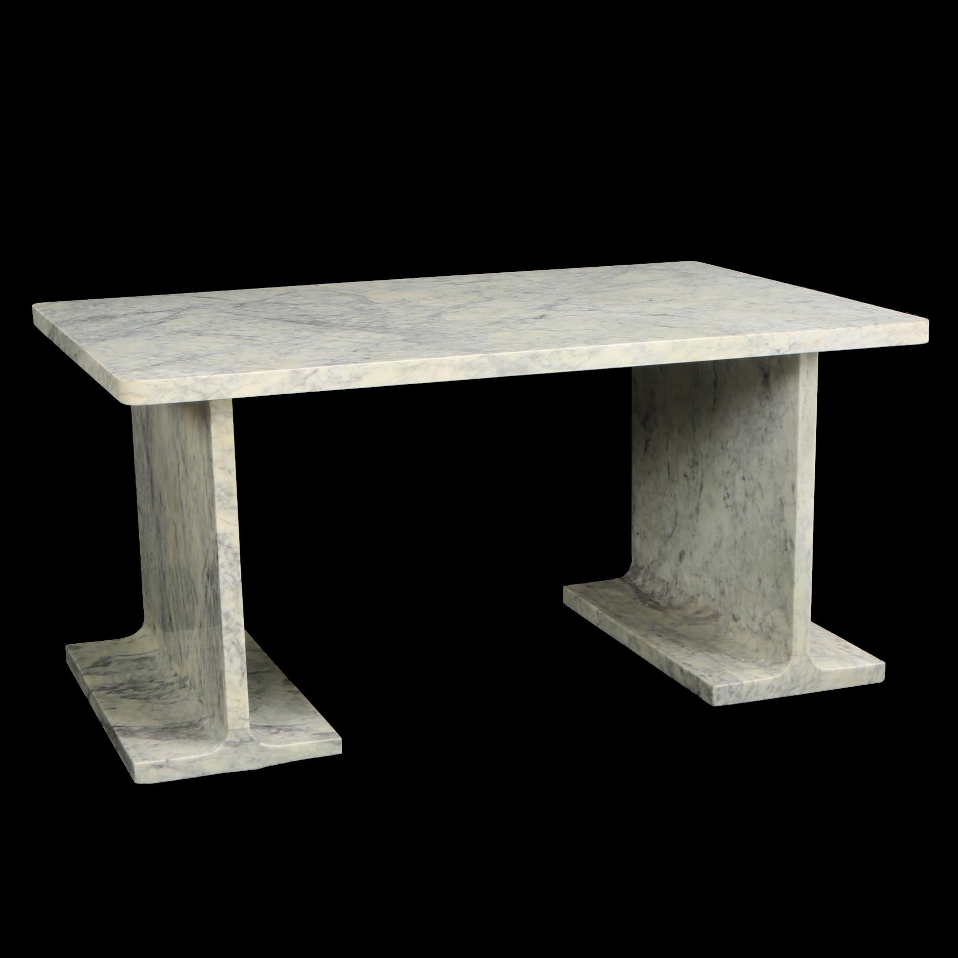 "Indian Marble ""Numerals"" Coffee Table"