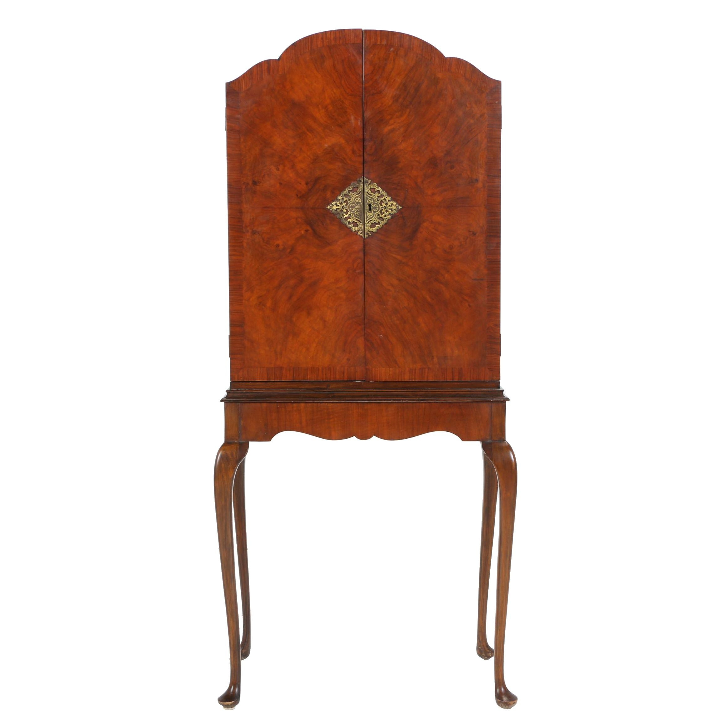 George II Style Mahogany and Rosewood Bar Cabinet-on-Stand, Circa 1940