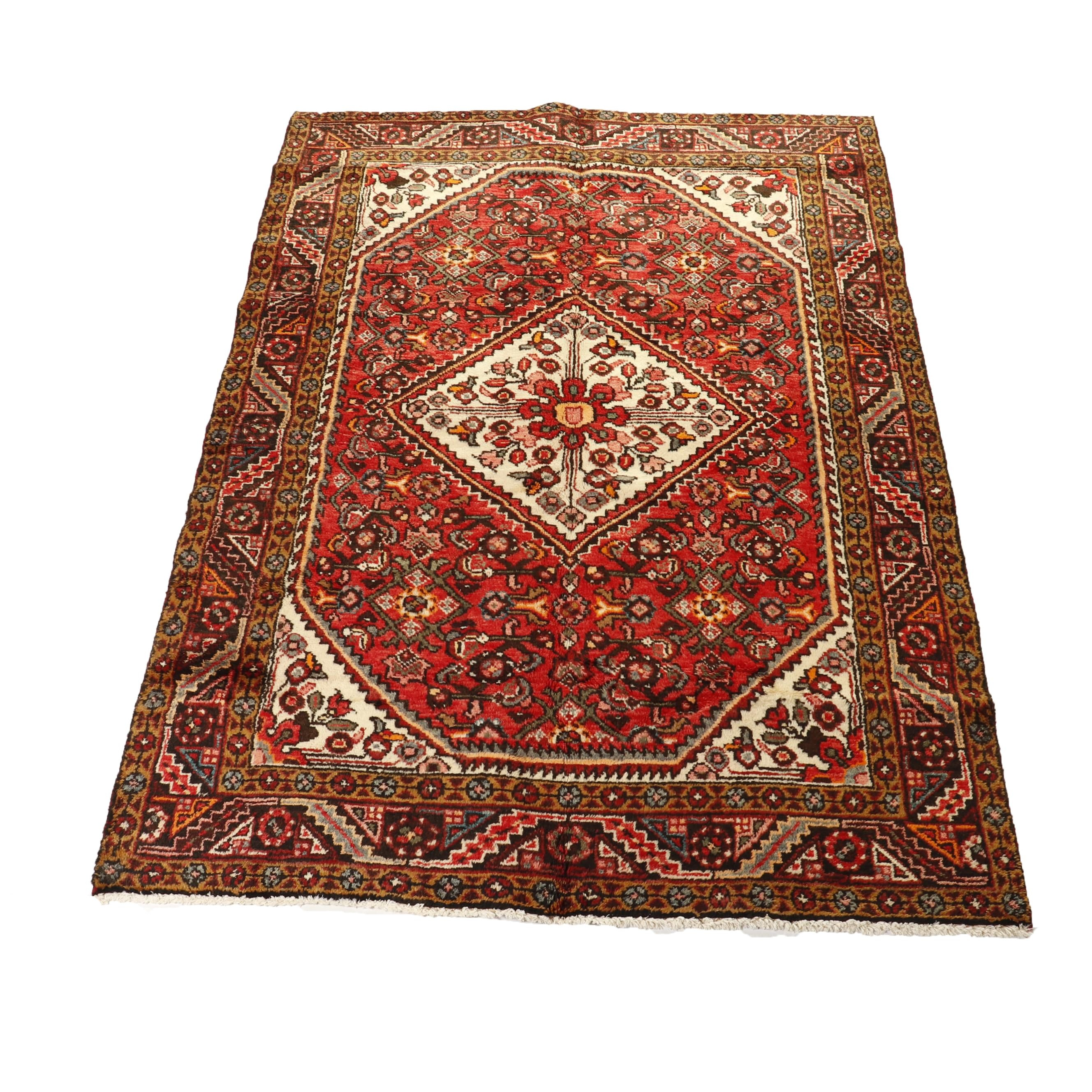 Hand-Knotted Persian Borchalou Wool Rug