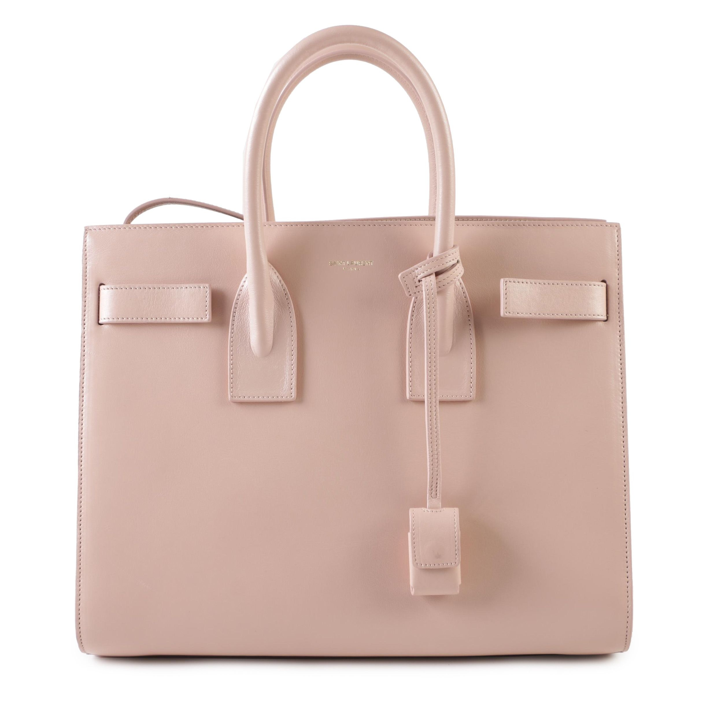 2015 Saint Laurent Sac de Jour Small Bag in Smooth Pale Pink Calfskin Leather