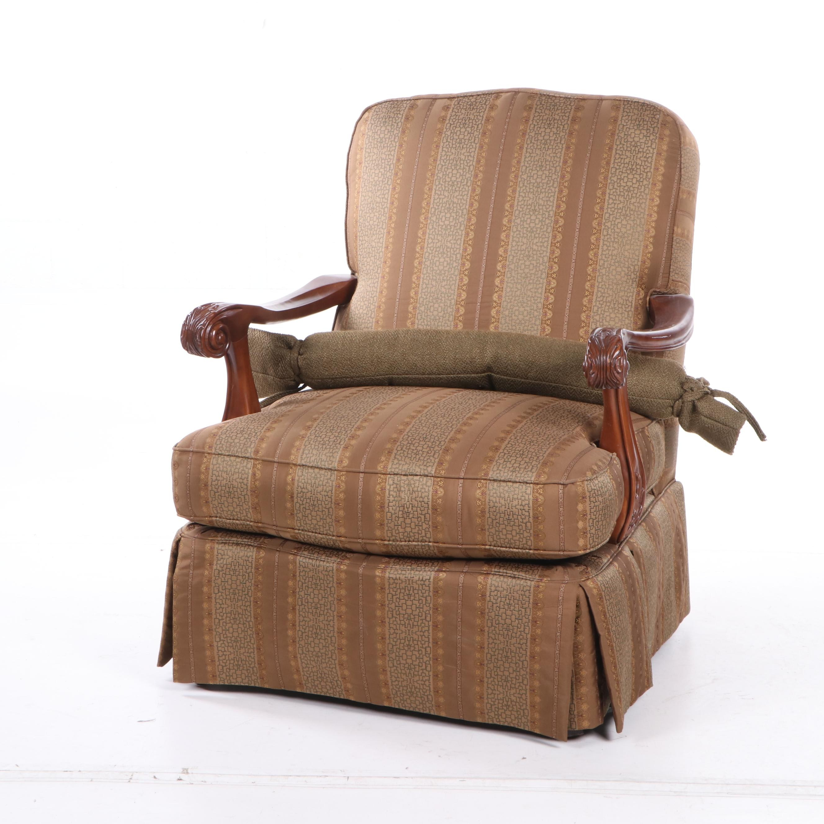 Contemporary Upholstered Armchair, Thomasville