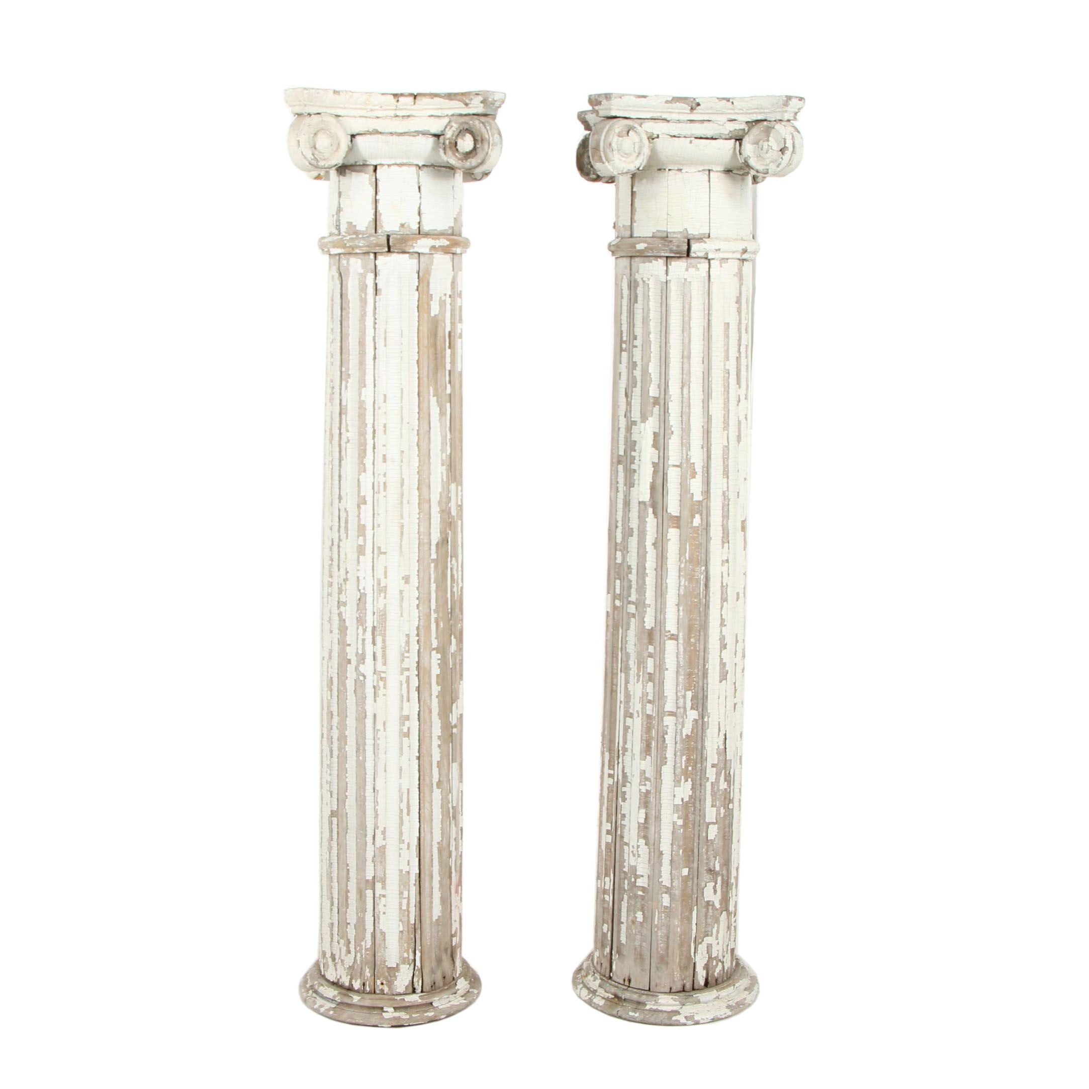 Two Distressed Columns