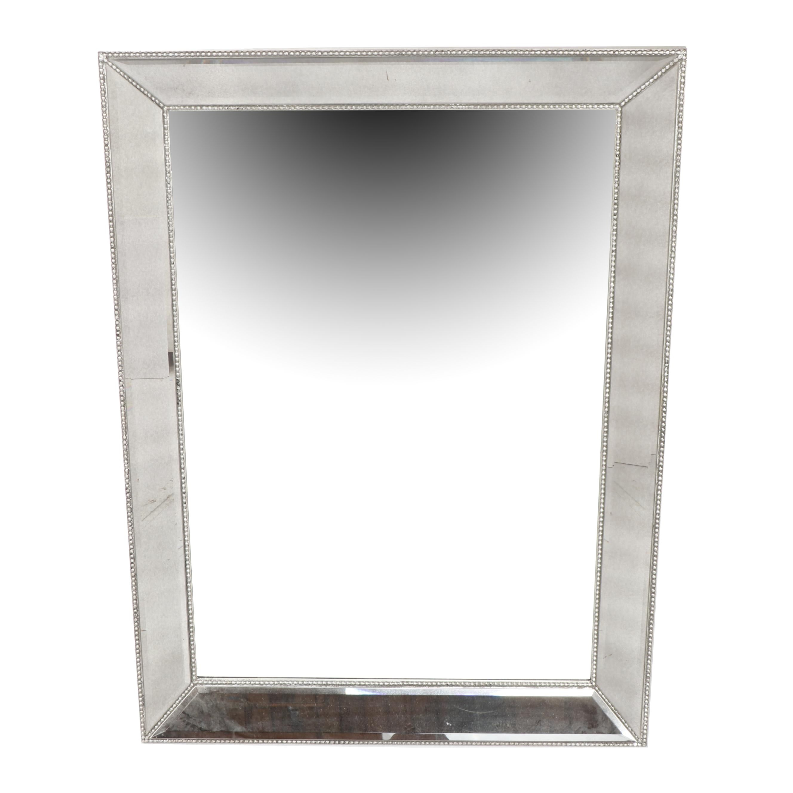 Contemporary Glass Framed Wall Mirror by Bassett Mirror Company