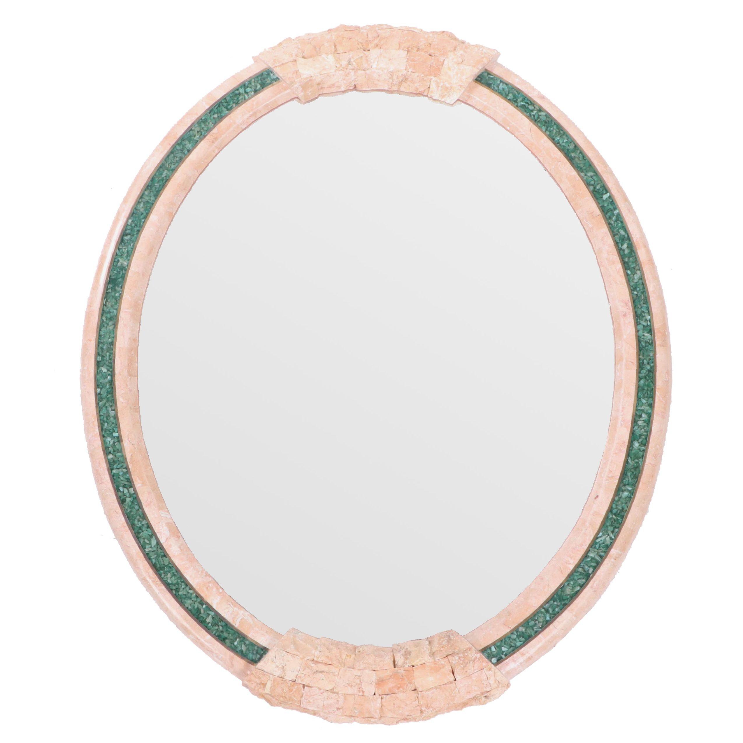 Bassett Pink Marble Framed Wall Mirror