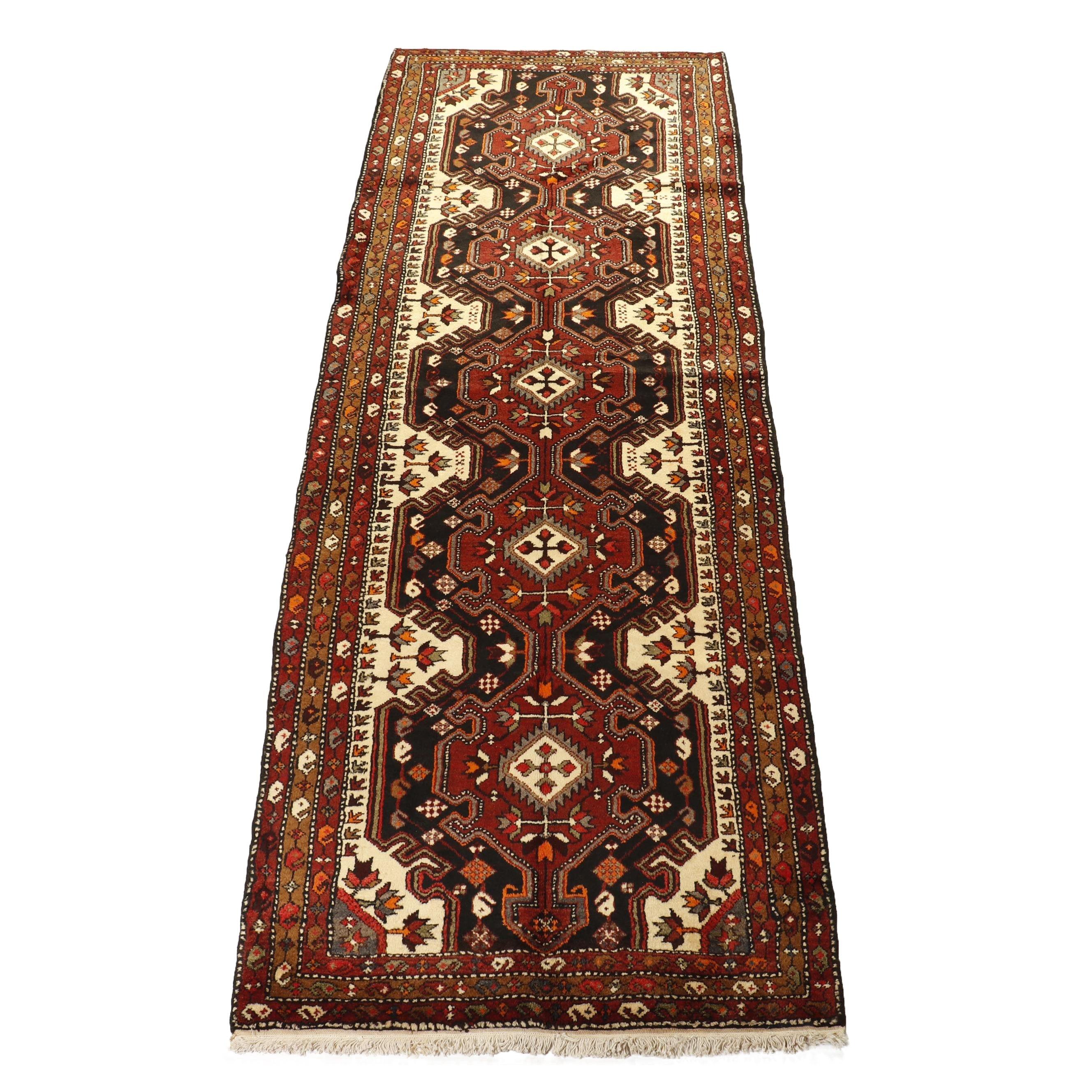 Hand-Knotted Persian Bakhtiari Wool Runner