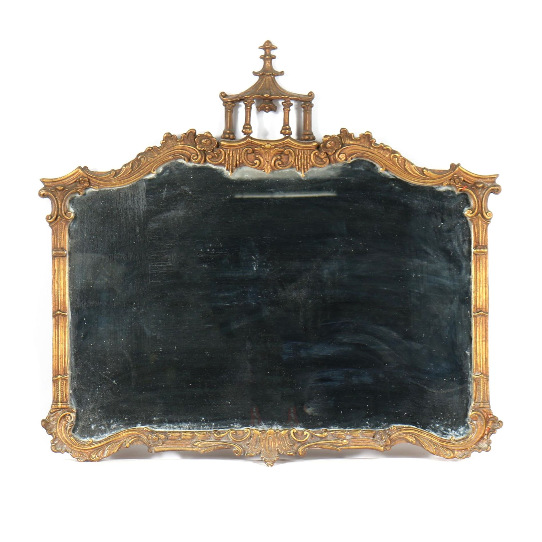 Chinoiserie Wood and Gesso Mirror, Early 20th Century