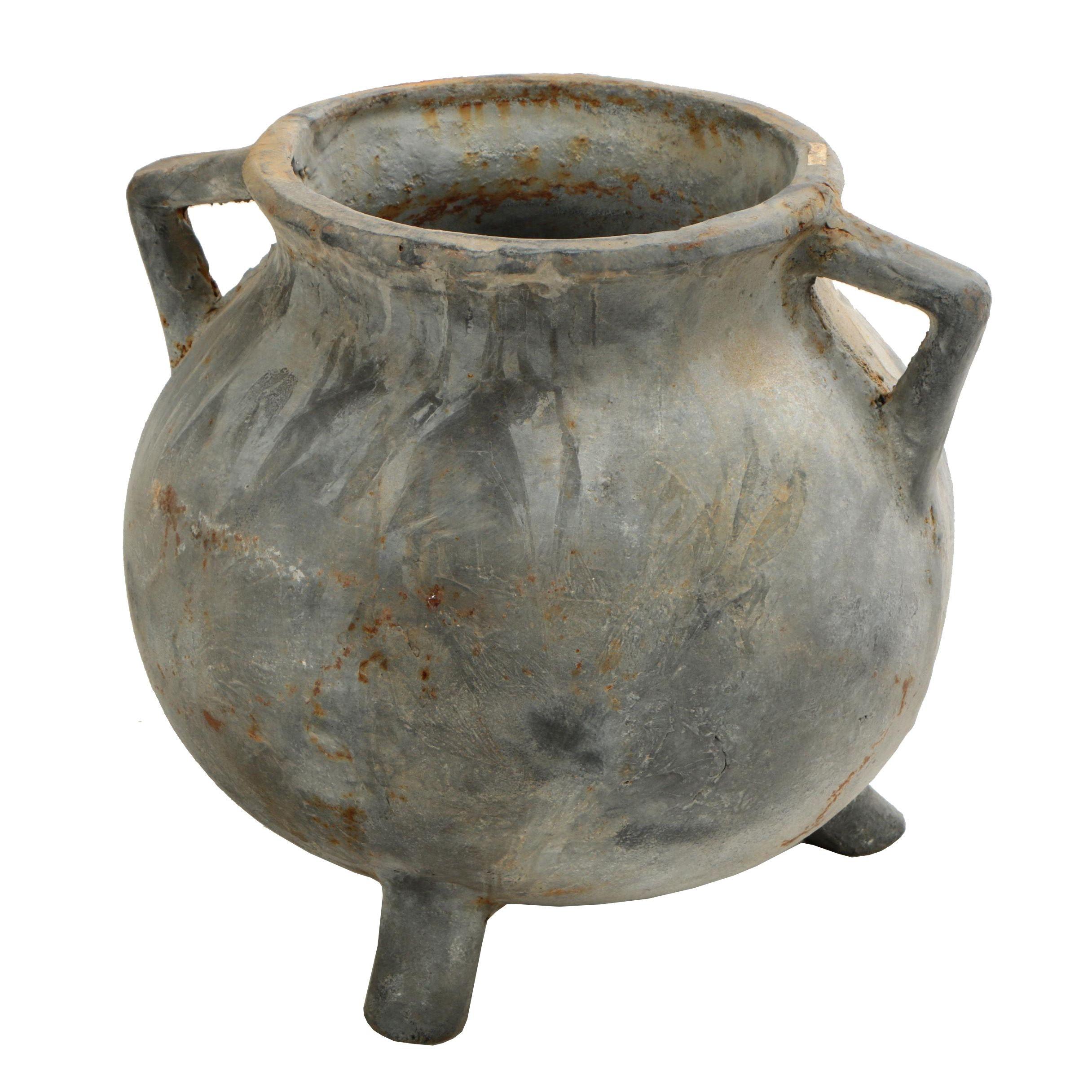 Cast Metal Pot Belly Planter